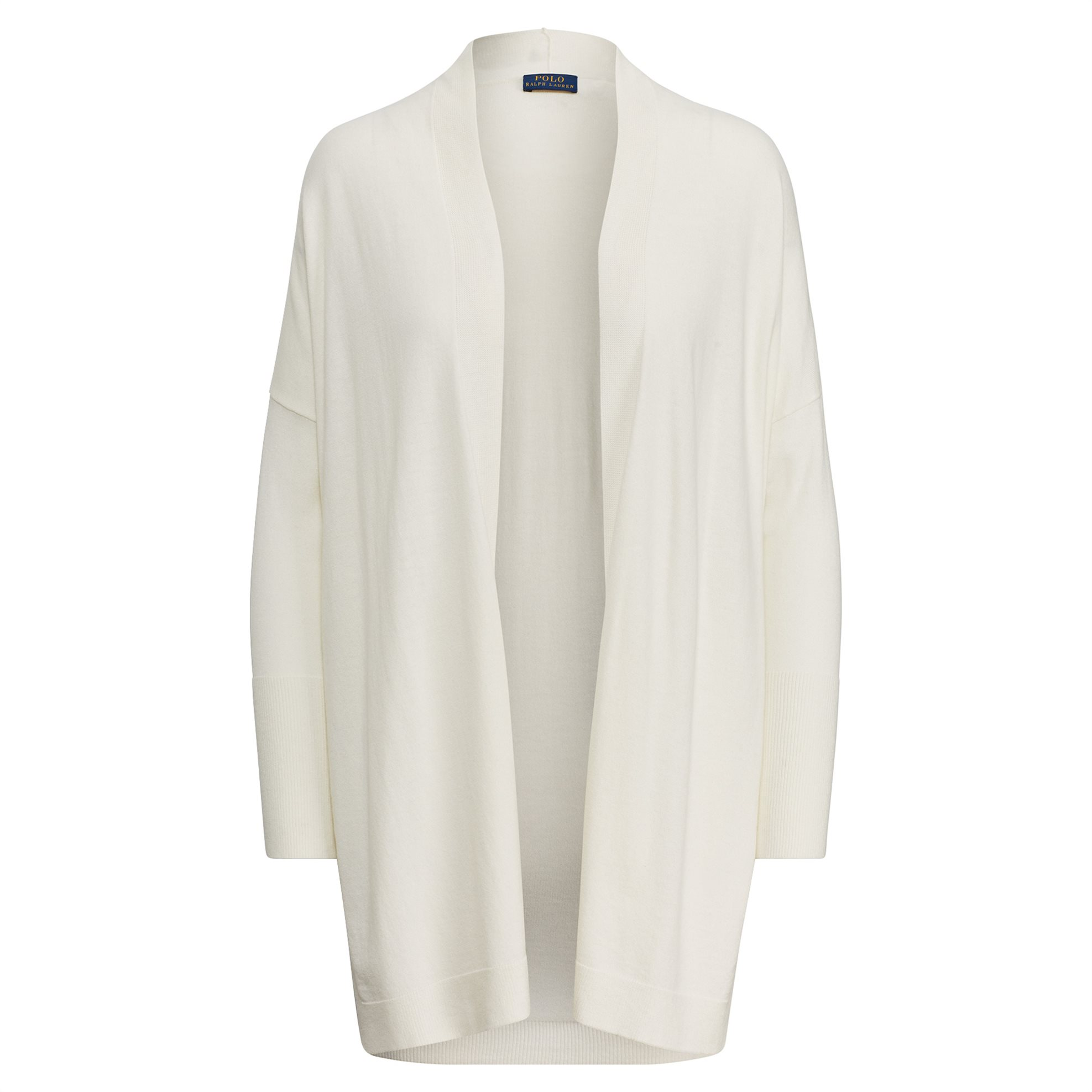 Polo Ralph Lauren γυναικεία ζακέτα πλεκτή Side-Slit Open Cardigan Cream - 211704 γυναικα   ρουχα   πλεκτά   ζακέτες