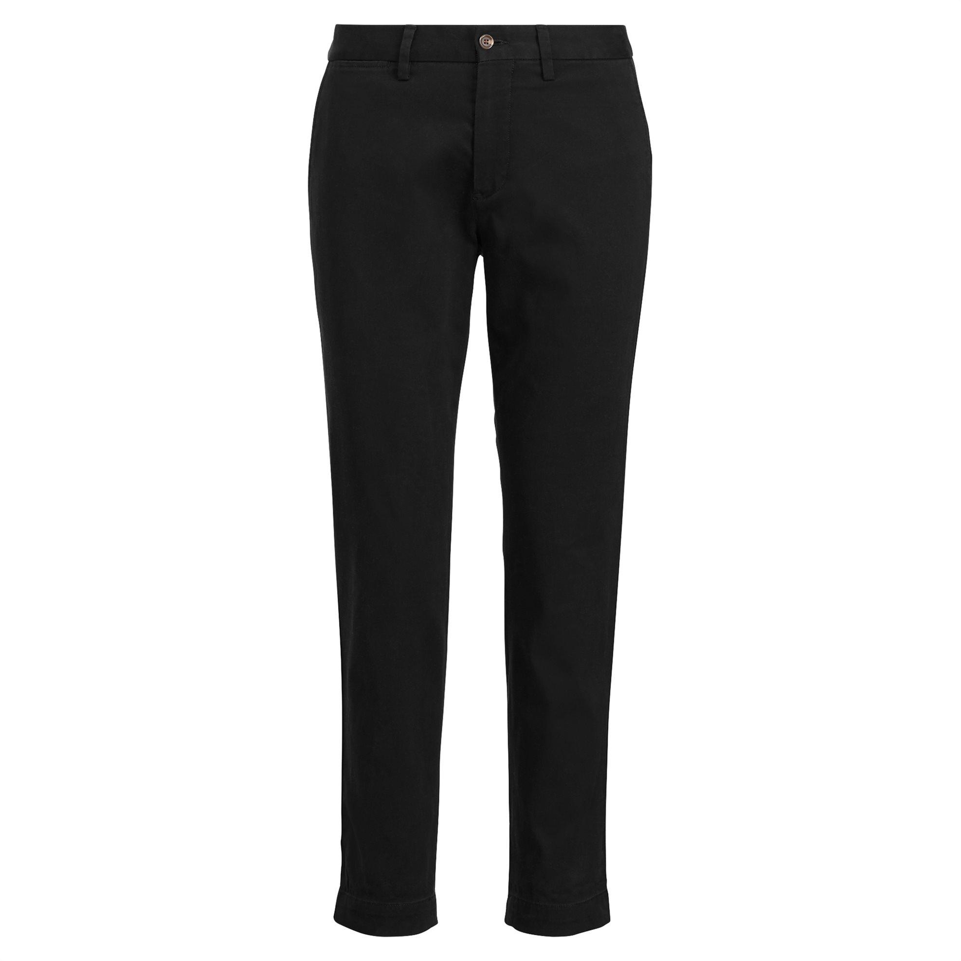 Polo Ralph Lauren γυναικείο παντελόνι Stretch Cotton Straight Pant Black - 21173 γυναικα   ρουχα   παντελόνια   ίσια γραμμή