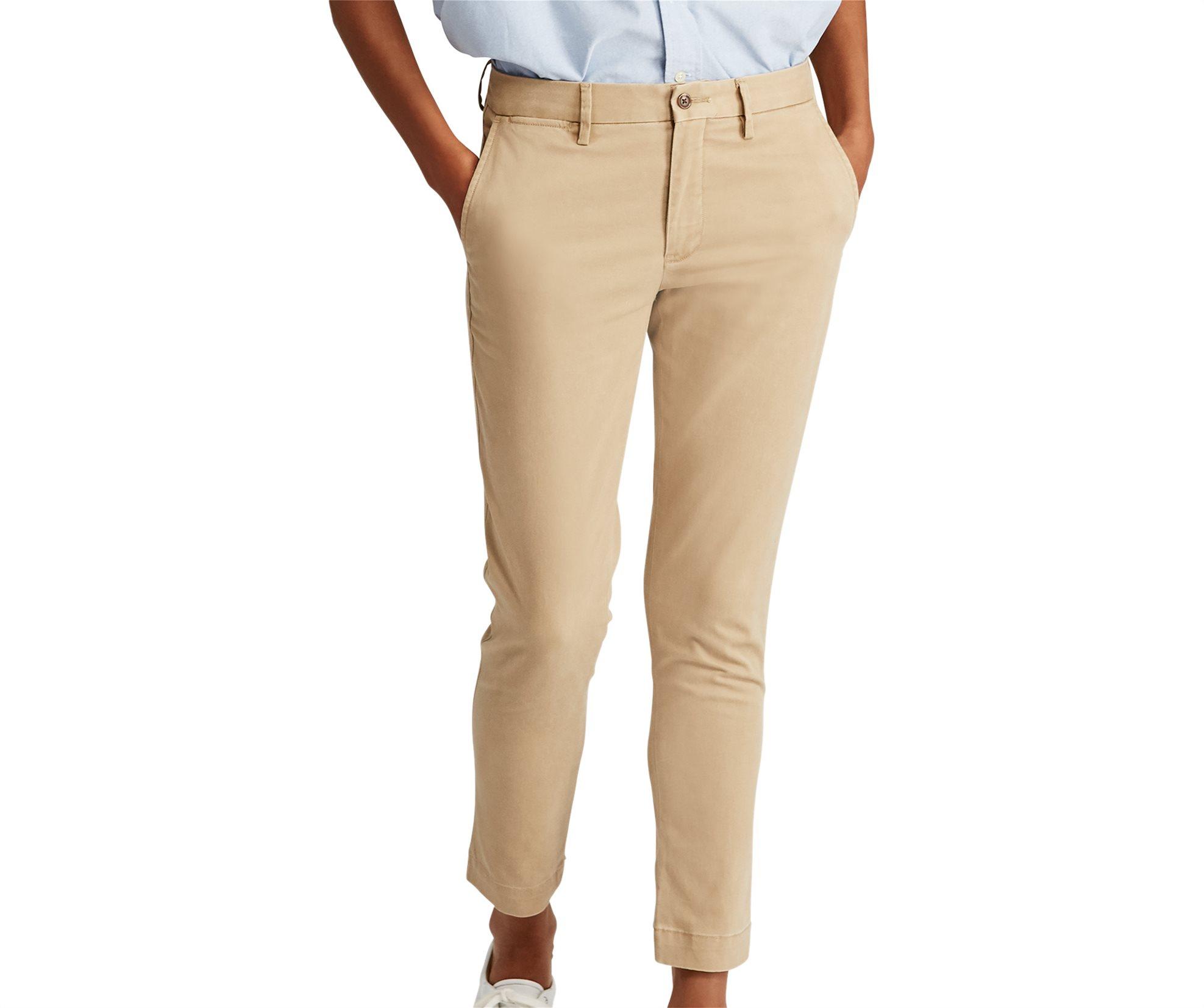 Polo Ralph Lauren γυναικείο παντελόνι Stretch Cotton Straight Pant Luxury tan -  γυναικα   ρουχα   παντελόνια   chinos