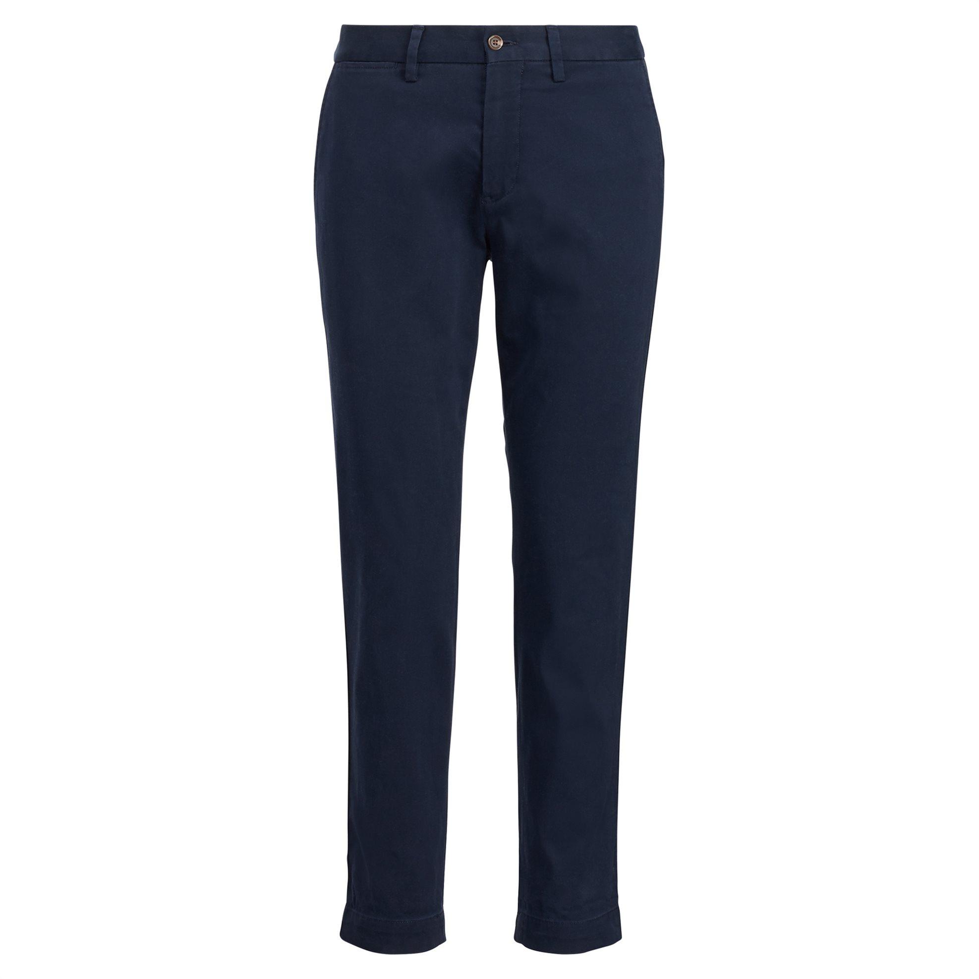Polo Ralph Lauren γυναικείο παντελόνι Stretch Cotton Straight Pant Aviator Navy  γυναικα   ρουχα   παντελόνια   chinos