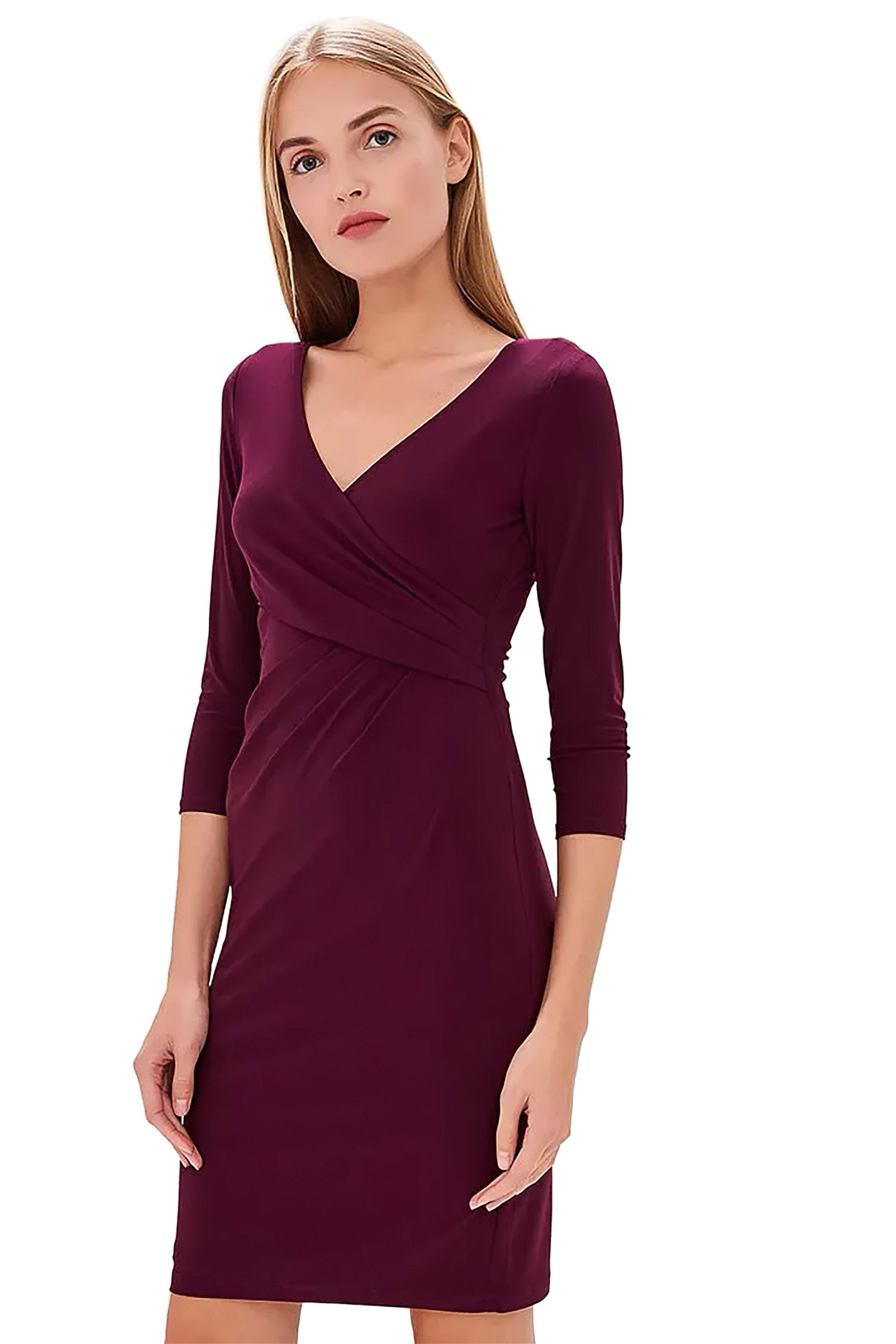 eb7f7f6264b4 Lauren Ralph Lauren Γυναικείο Φόρεμα Μονόχρωμο Κρουαζέ - 250725177001 - Μπλε  Σκούρο Notos