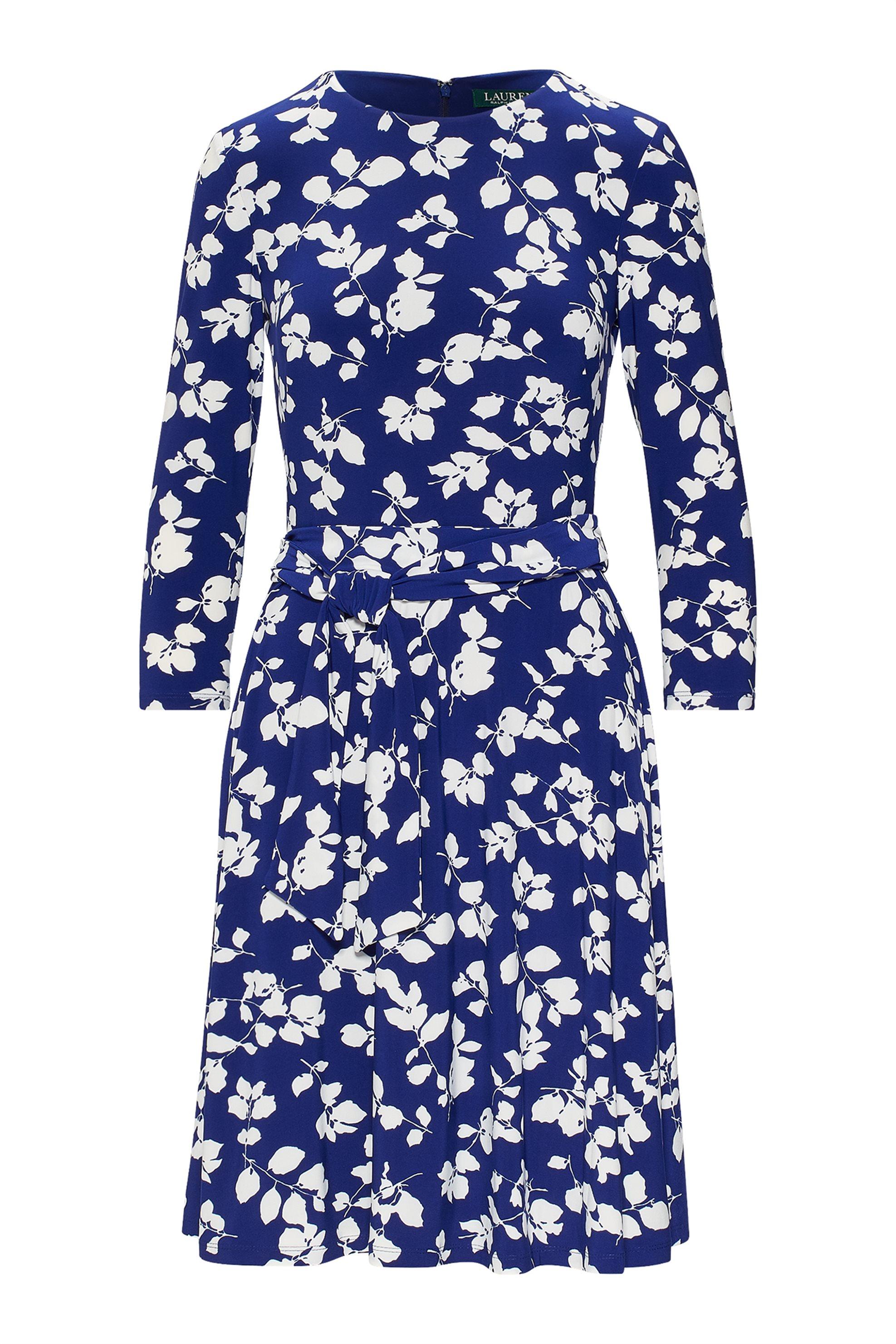 Lauren Ralph Lauren γυναικείo φόρεμα Floral Fit-and-Flare - 250740986001 - Μπλε  γυναικα   ρουχα   φορέματα   midi φορέματα