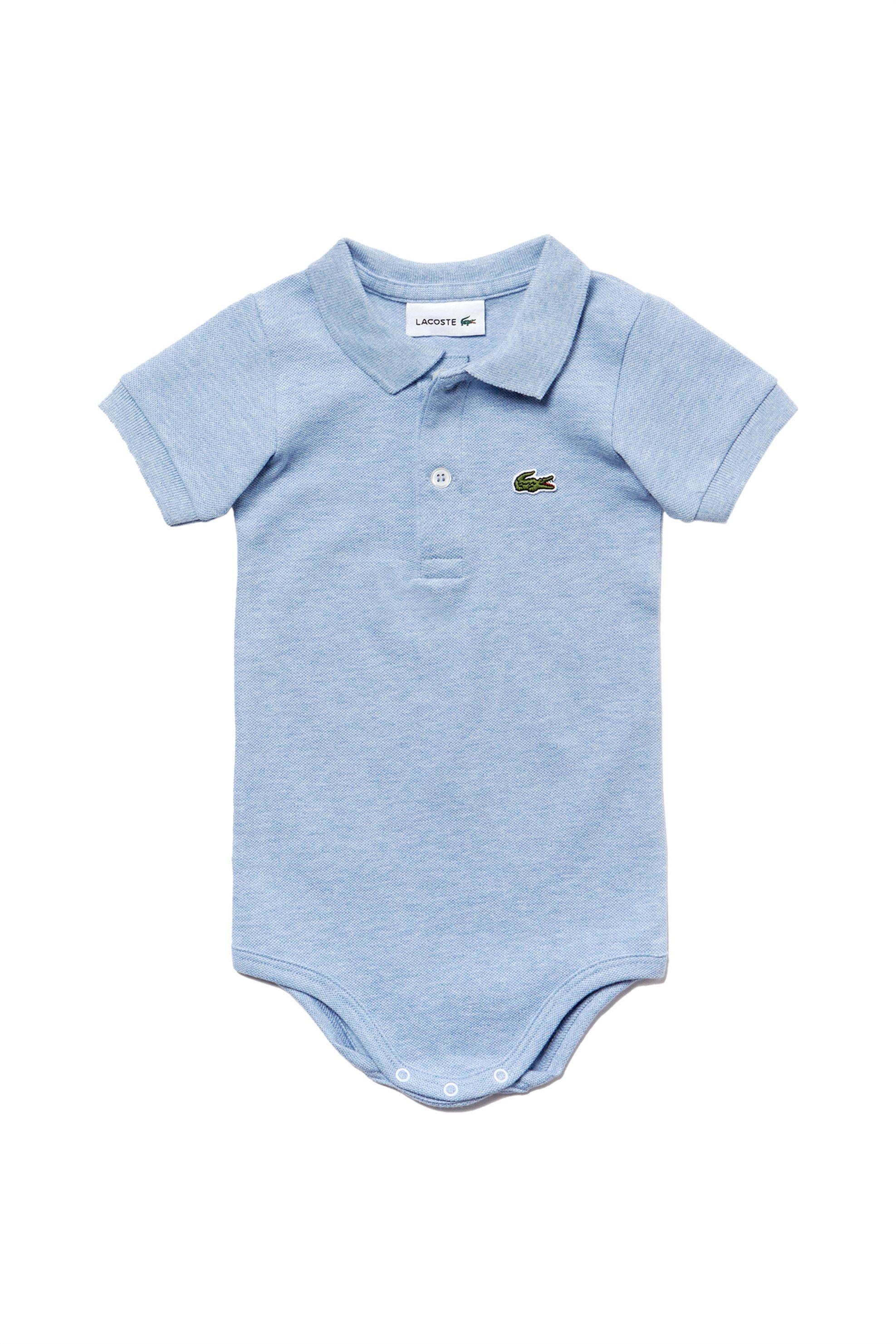 Βρεφικό φορμάκι με κοντό μανίκι Piqué Lacoste - 4J3563 - Ανοιχτό Γαλάζιο παιδι   βρεφικα αγορι   0 3 ετων   ρούχα   φορμάκια