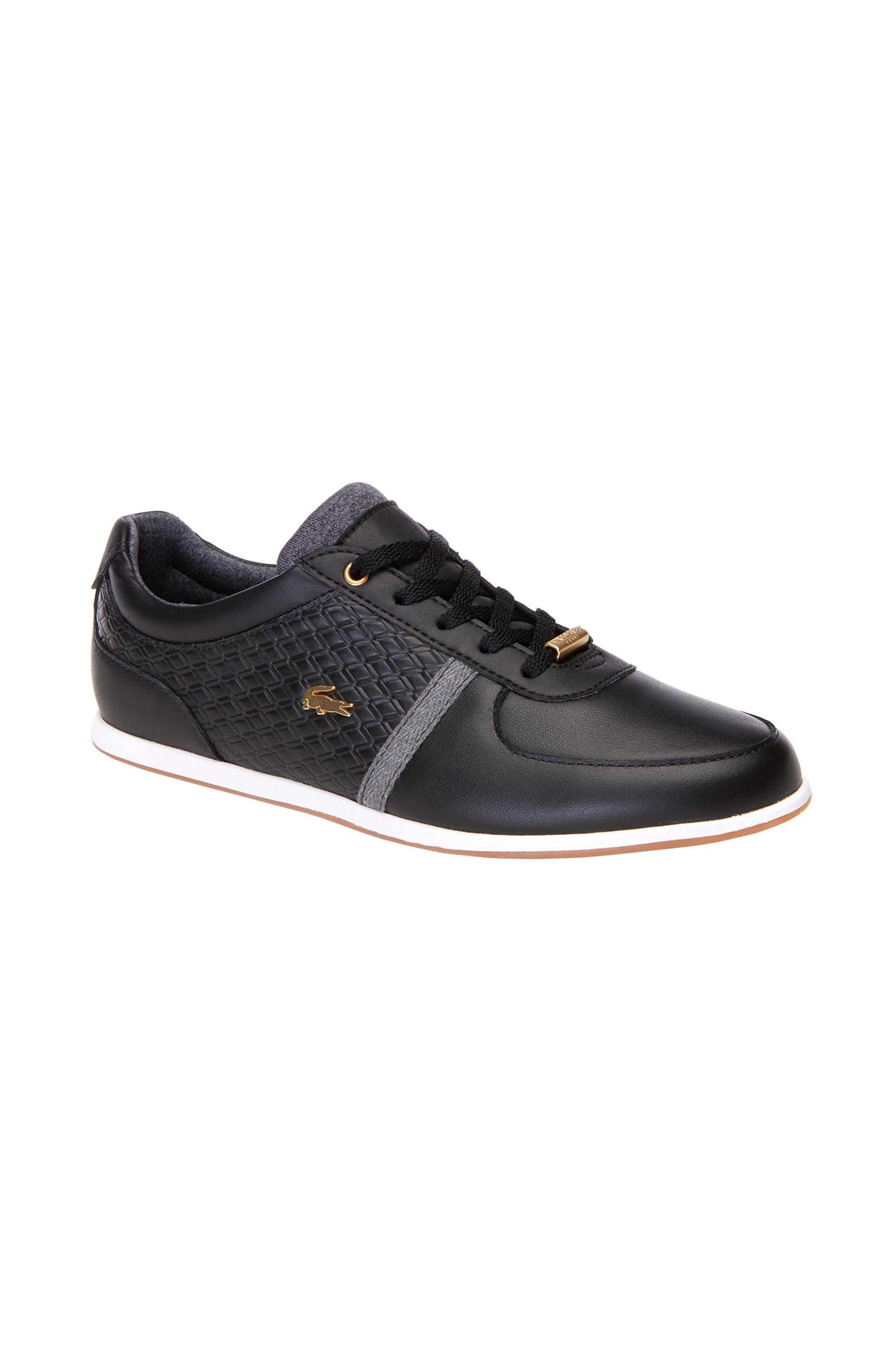 094525c8cc1 -30% Notos Lacoste γυναικεία δερμάτινα παπούτσια με κορδόνια Rey Sport –  36CAW0034237 – Μαύρο