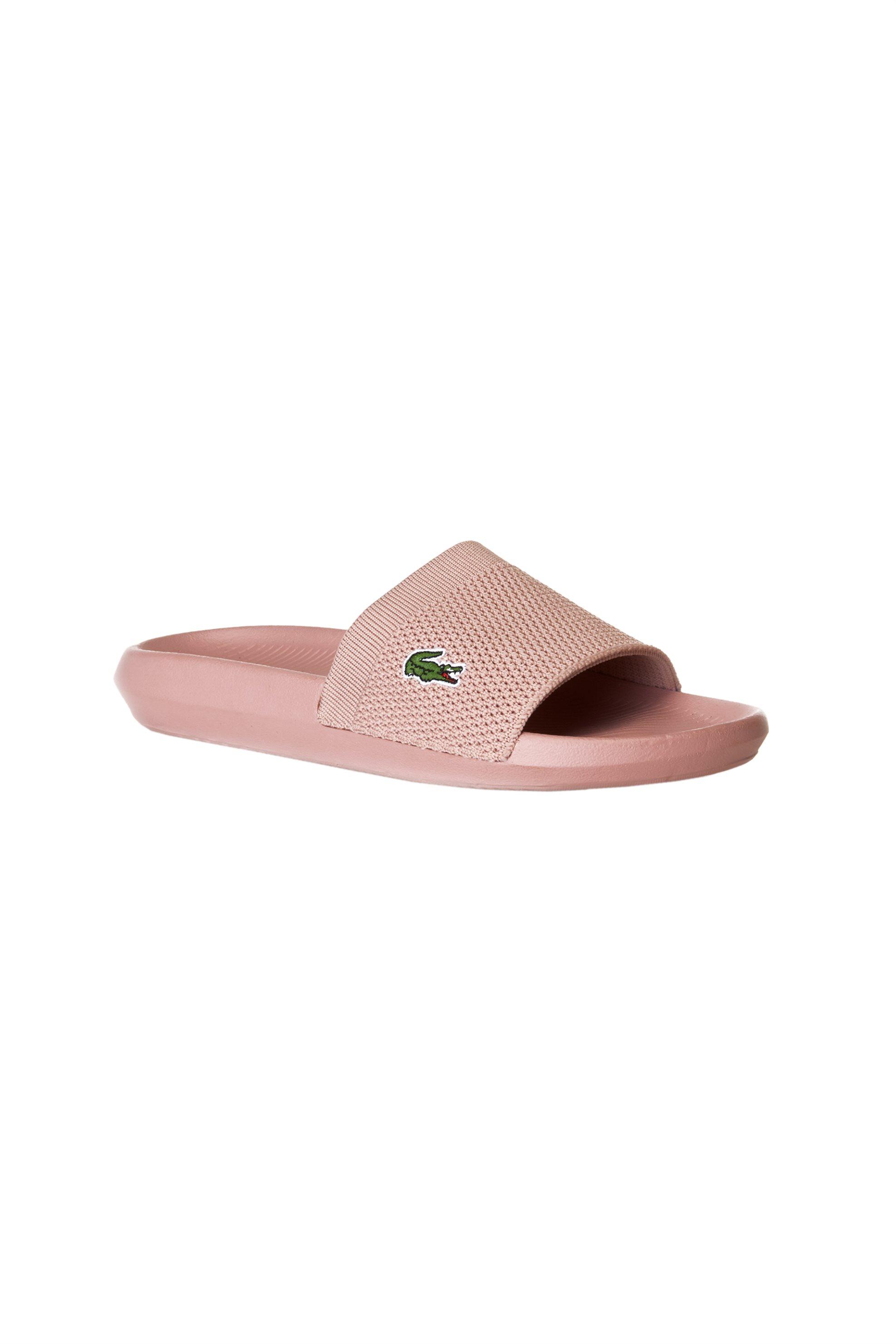 be74a04ebea Notos Lacoste γυναικείες παντόφλες Croco Slide – 37CFA0004NN1 – Ροζ