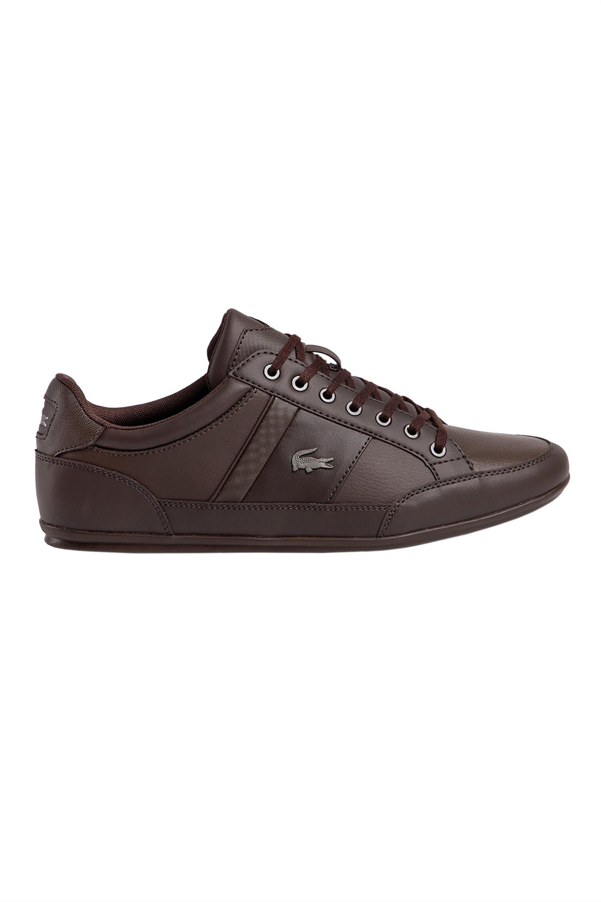 "Lacoste ανδρικά sneakers με μεταλλικό λογότυπο ""Chaymon BL 1"" – 37CMA0094DB2 – Καφέ"