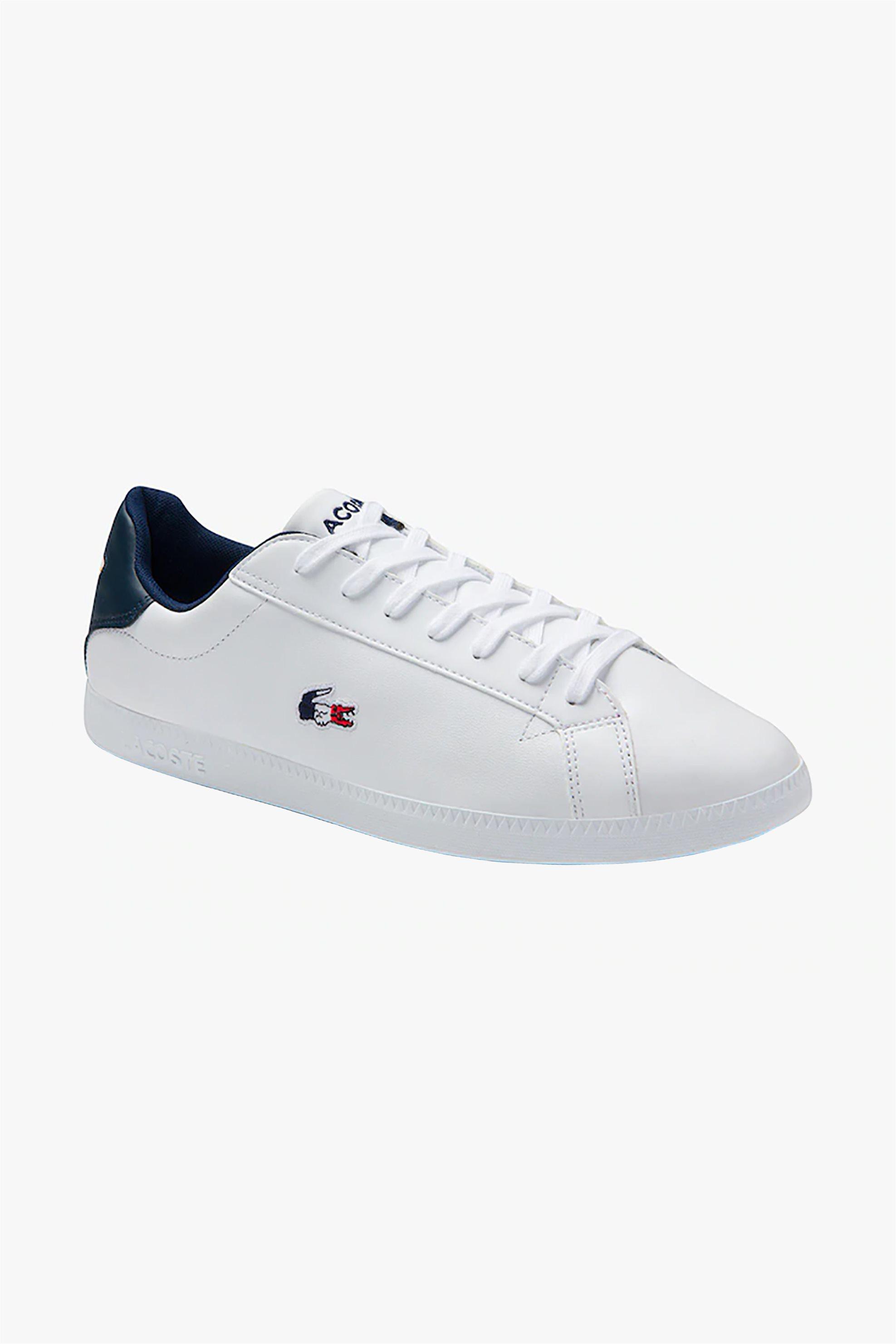 "Lacoste ανδρικά sneakers με κορδόνια ""Graduate Tricolore"" – 39SMA0027407 – Λευκό"