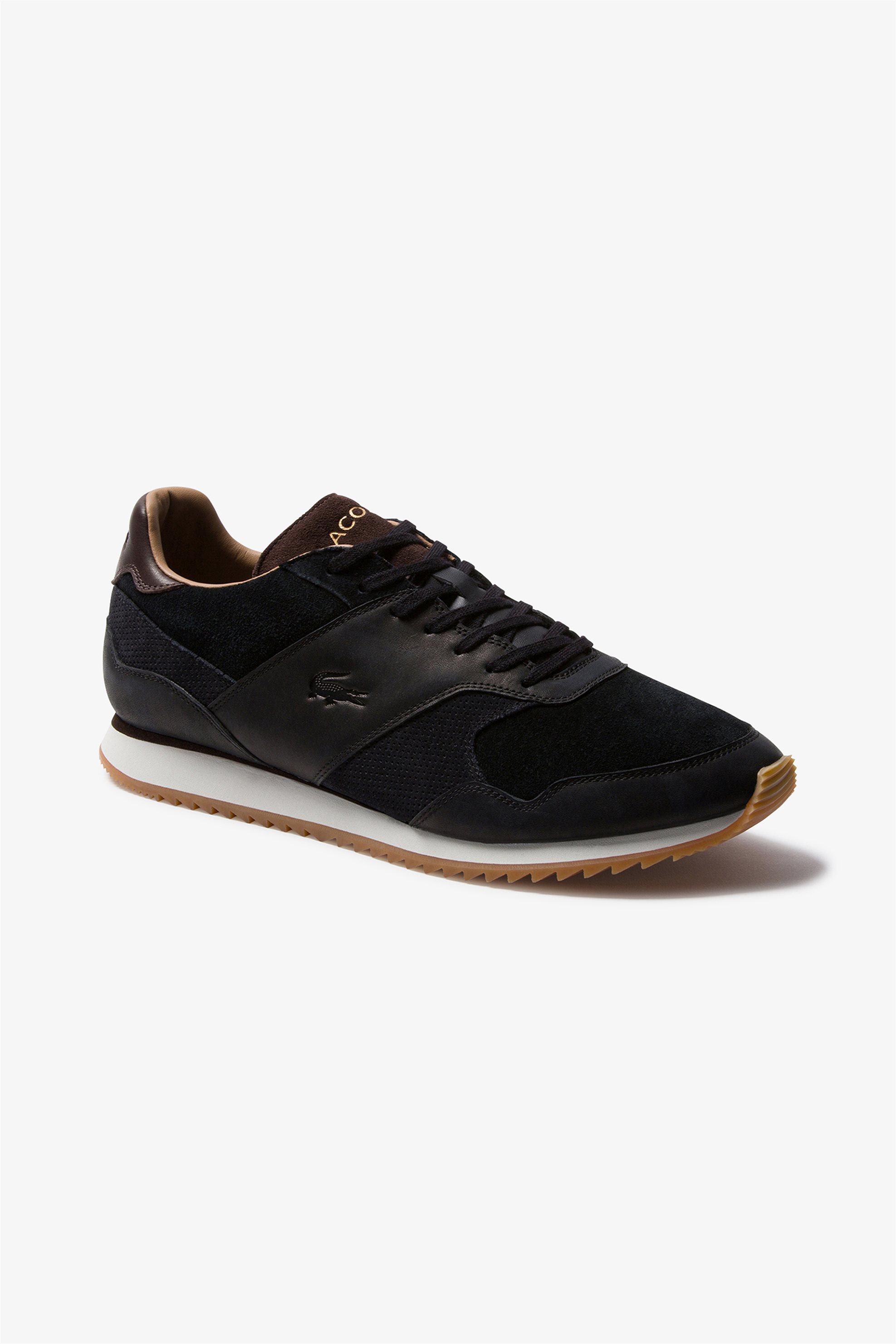"""Lacoste ανδρικά suede sneakers """"Aesthet Luxe 120 1 SMA"""" – 39SMA00342M5 – Λευκό"""