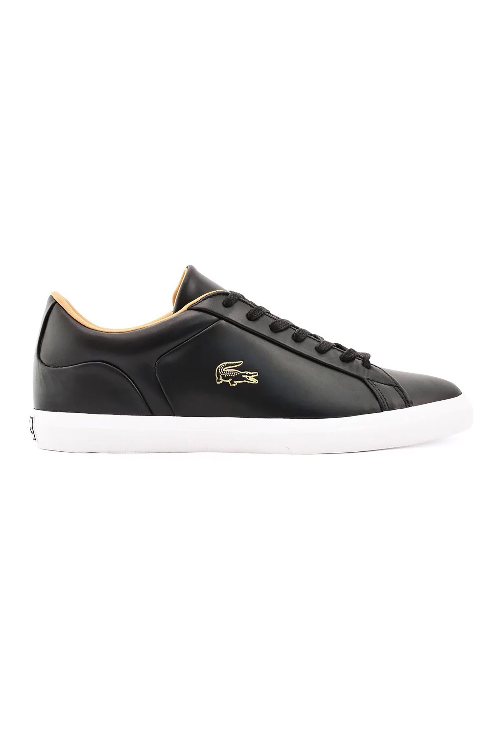 "Lacoste ανδρικα sneakers με χρυσό λογοτυπο ""Lerond"" – 40CMA0012312 – Μαύρο"