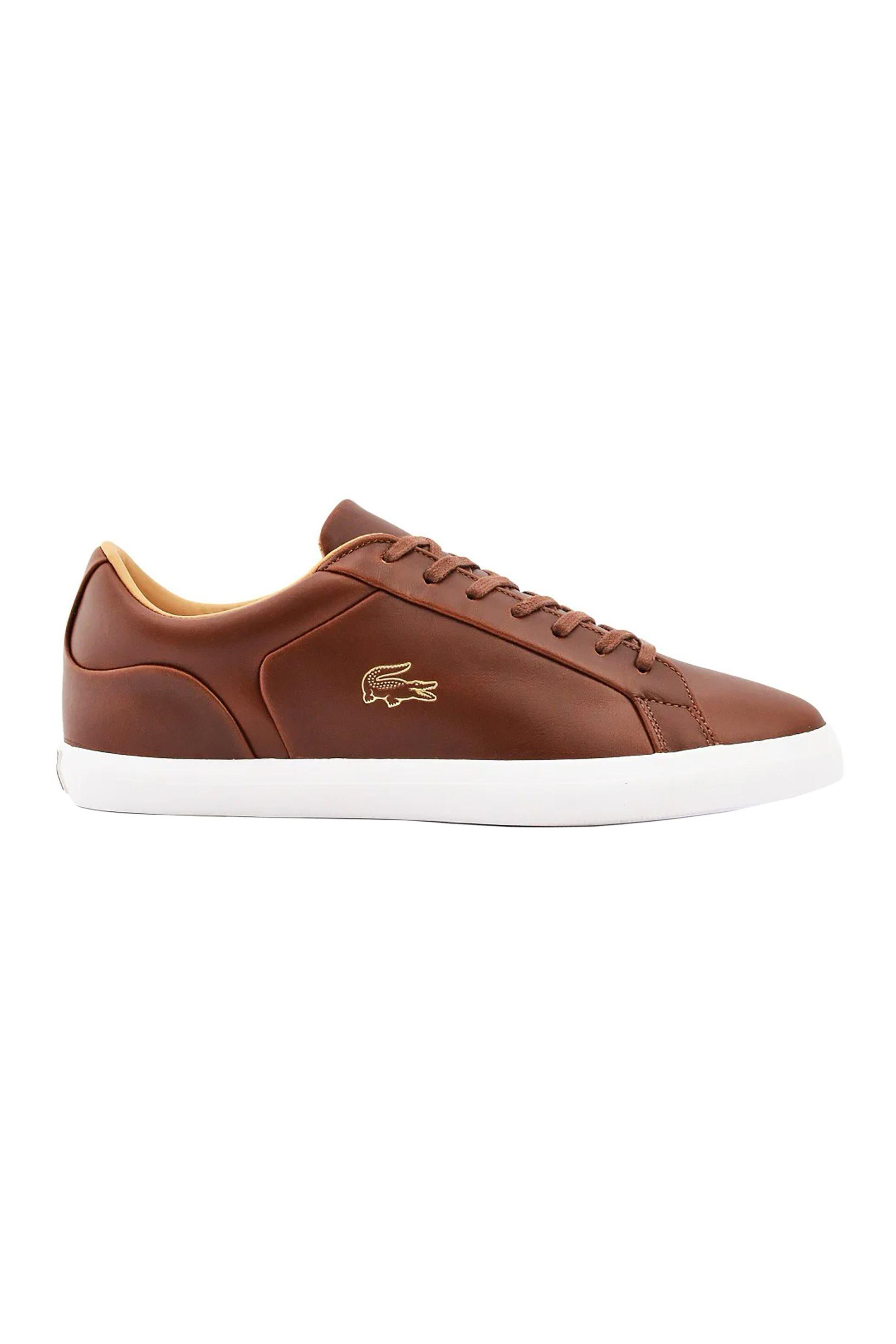 "Lacoste ανδρικα sneakers με χρυσό λογοτυπο ""Lerond"" – 40CMA0012B18 – Ταμπά"