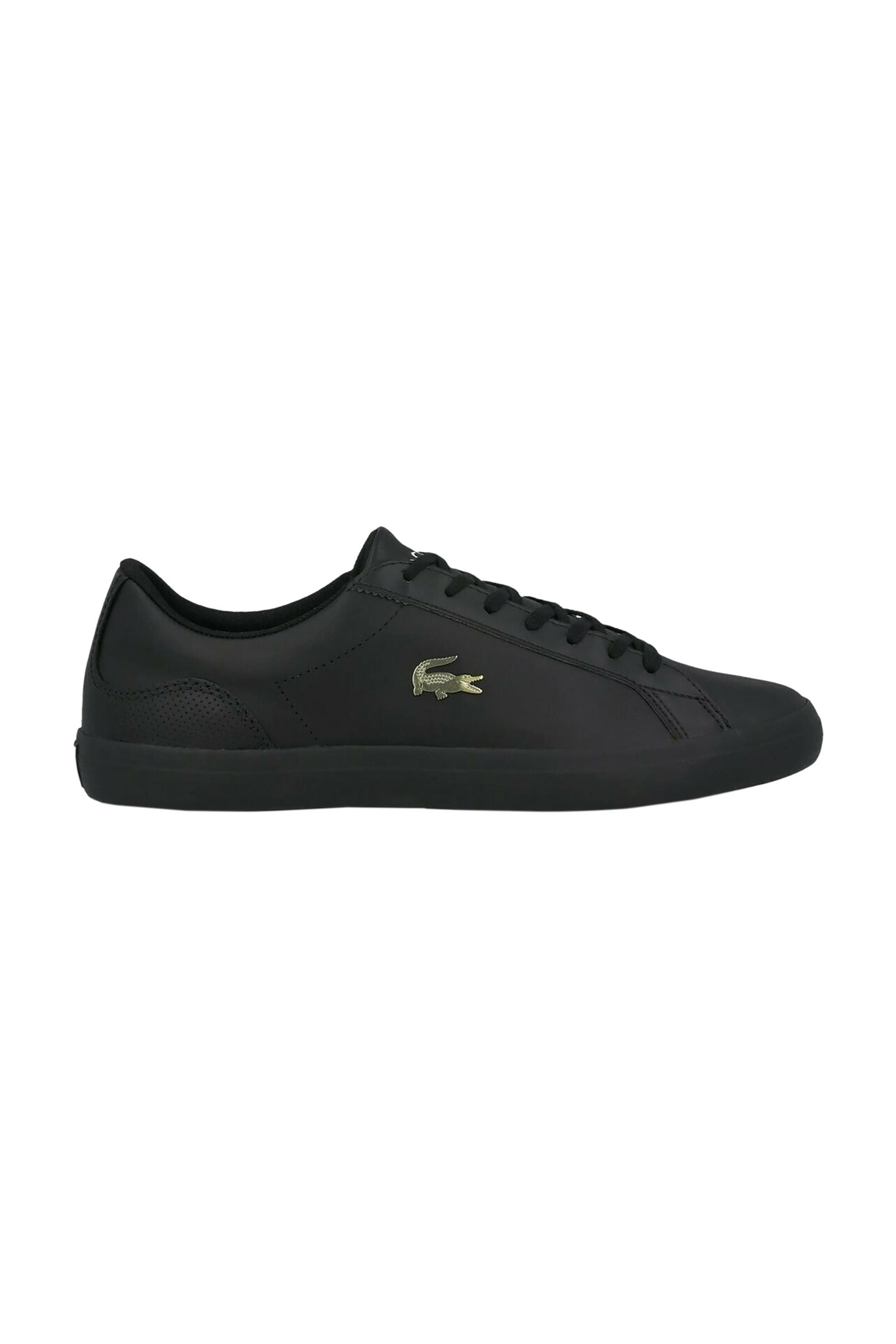 "Lacoste ανδρικα sneakers με χρυσό λογότυπο ""Lerond 0120 2"" – 40CMA005602H – Μαύρο"