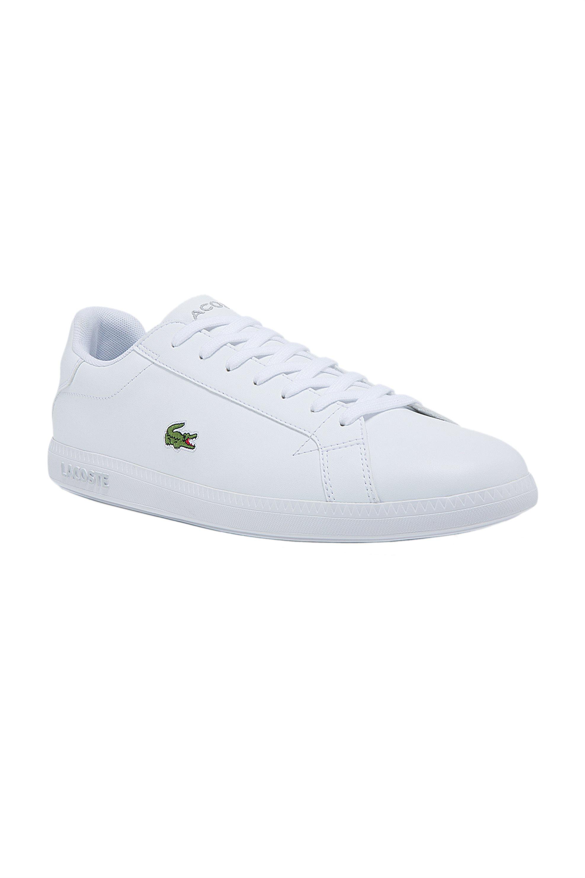 "Lacoste ανδρικά sneakers με κορδόνια ""Graduate"" – 41SMA001221G – Λευκό"