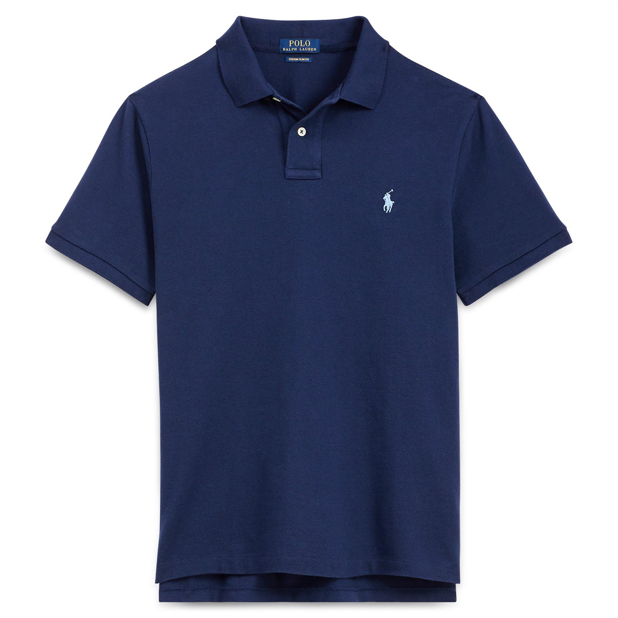 1647defa4108 Notos Polo Ralph Lauren ανδρική μπλούζα πόλο Custom Slim Fit Mesh Polo  Newport Navy - 710666998001 -