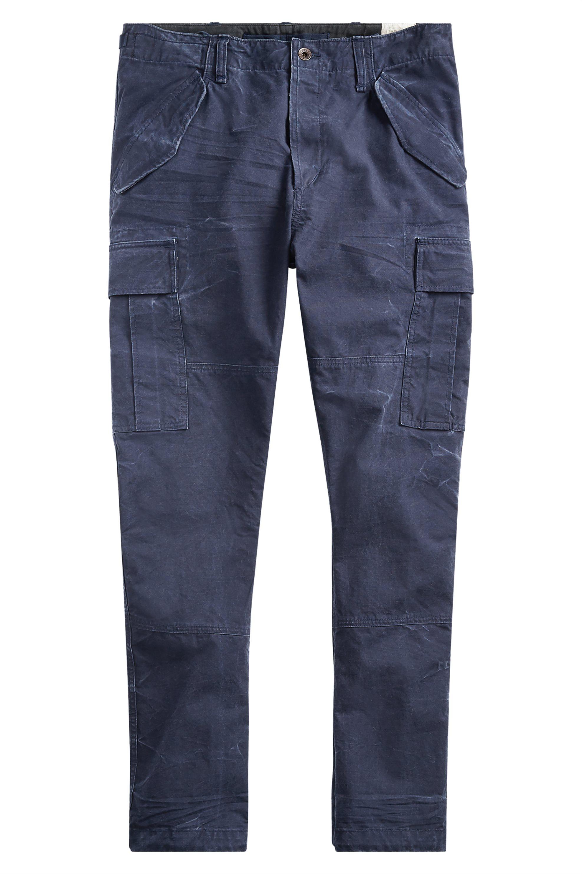 Polo Ralph Lauren ανδρικό παντελόνι Slim Fit Canvas Cargo - 710671176003 - Μπλε ανδρασ   ρουχα   παντελόνια   cargo