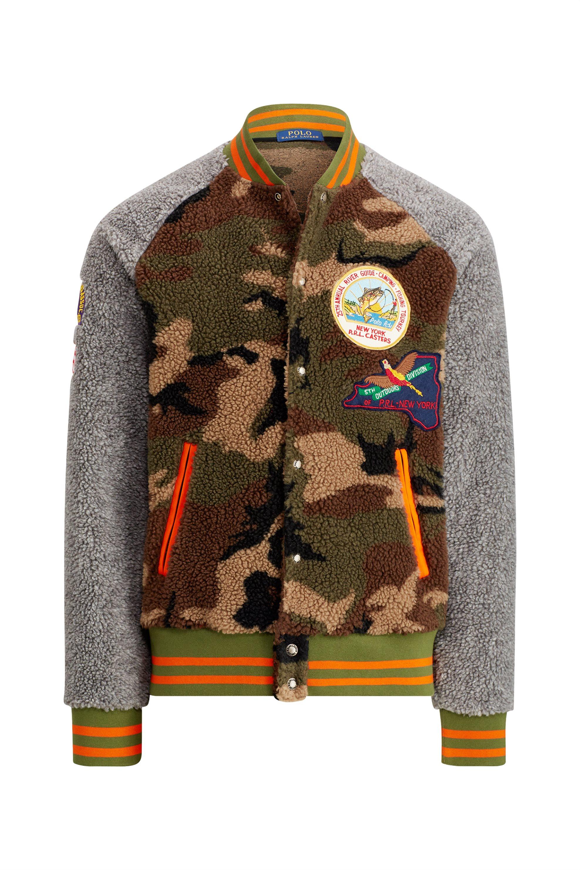 90bc3daac457 Polo Ralph Lauren ανδρικό bomber Camo Fleece Baseball Jacket - 710731678001  - Χακί