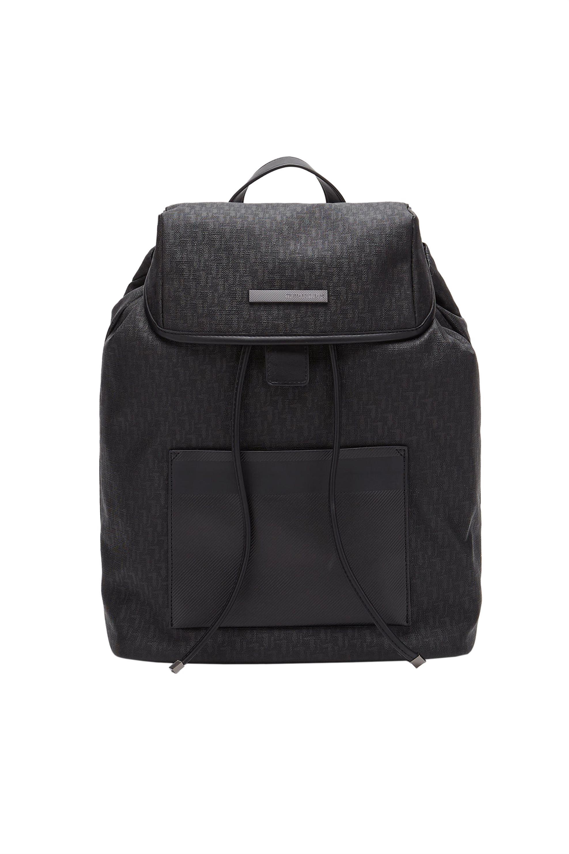 Trussardi Jeans ανδρικό backpack Branded Bocconi - 71B00077-9Y099999 - Μαύρο ανδρασ   τσαντεσ   σακίδια   backpacks
