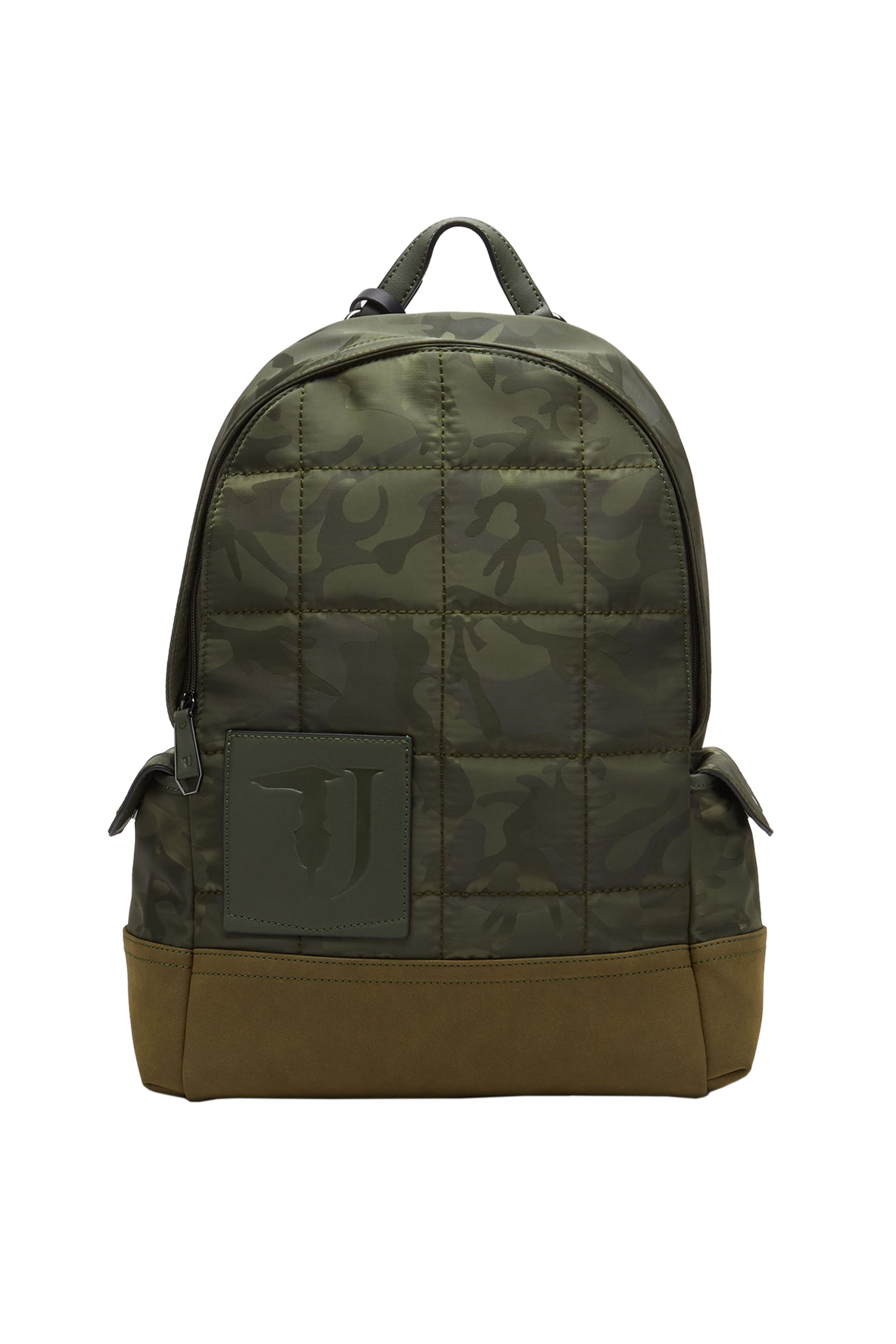 Trussardi Jeans ανδρικό backpack Ticinese camouflage - 71B00098-9Y099998 - Λαδί ανδρασ   τσαντεσ   σακίδια   backpacks
