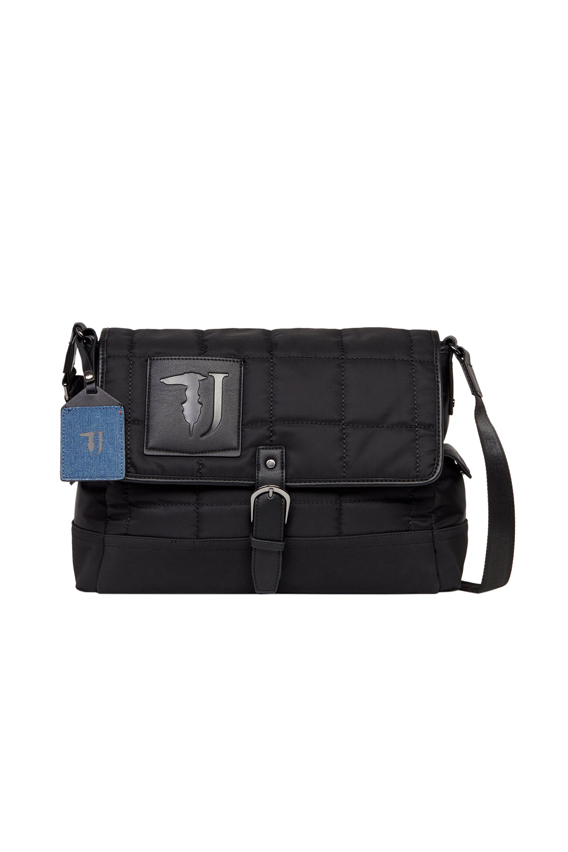 Trussardi Jeans ανδρική messenger bag Ticinese - 71B00099-9Y099999 - Μαύρο ανδρασ   τσαντεσ   τσάντες χειρός   laptop
