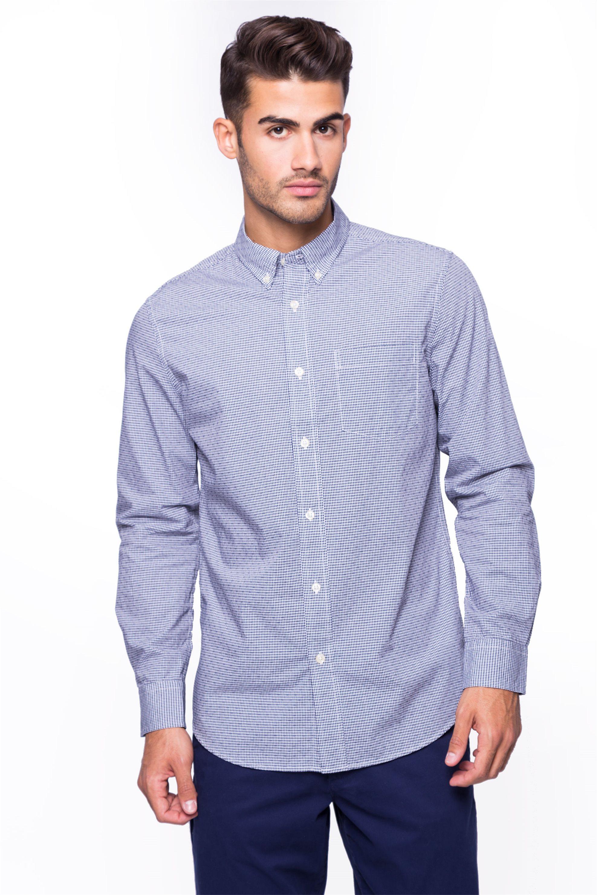 Ανδρικό πουκάμισο Chaps - 750662257001 - Μπλε