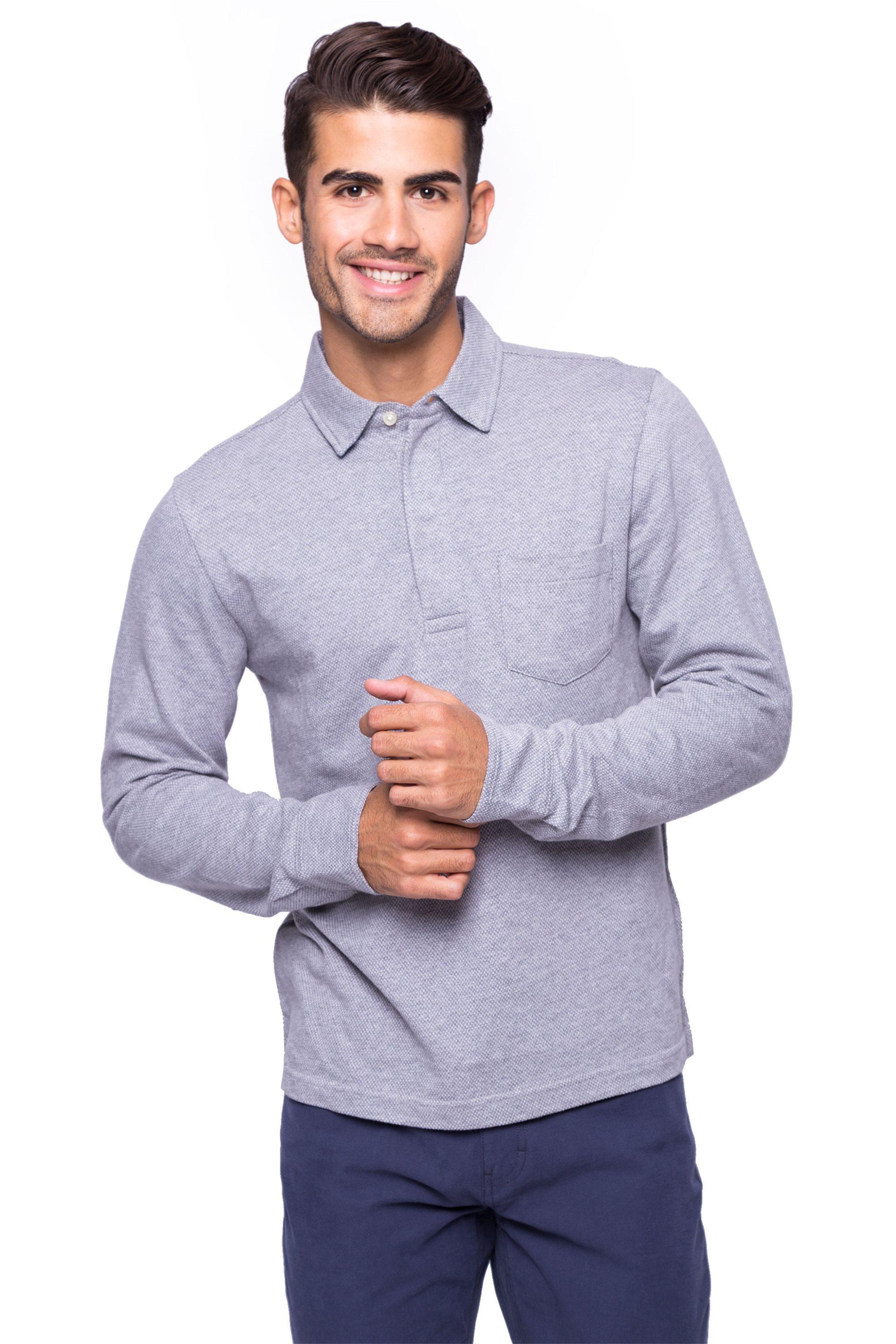 Ανδρική μπλούζα Chaps - 750662265002 - Γκρι ανδρασ   ρουχα   μπλούζες   πόλο