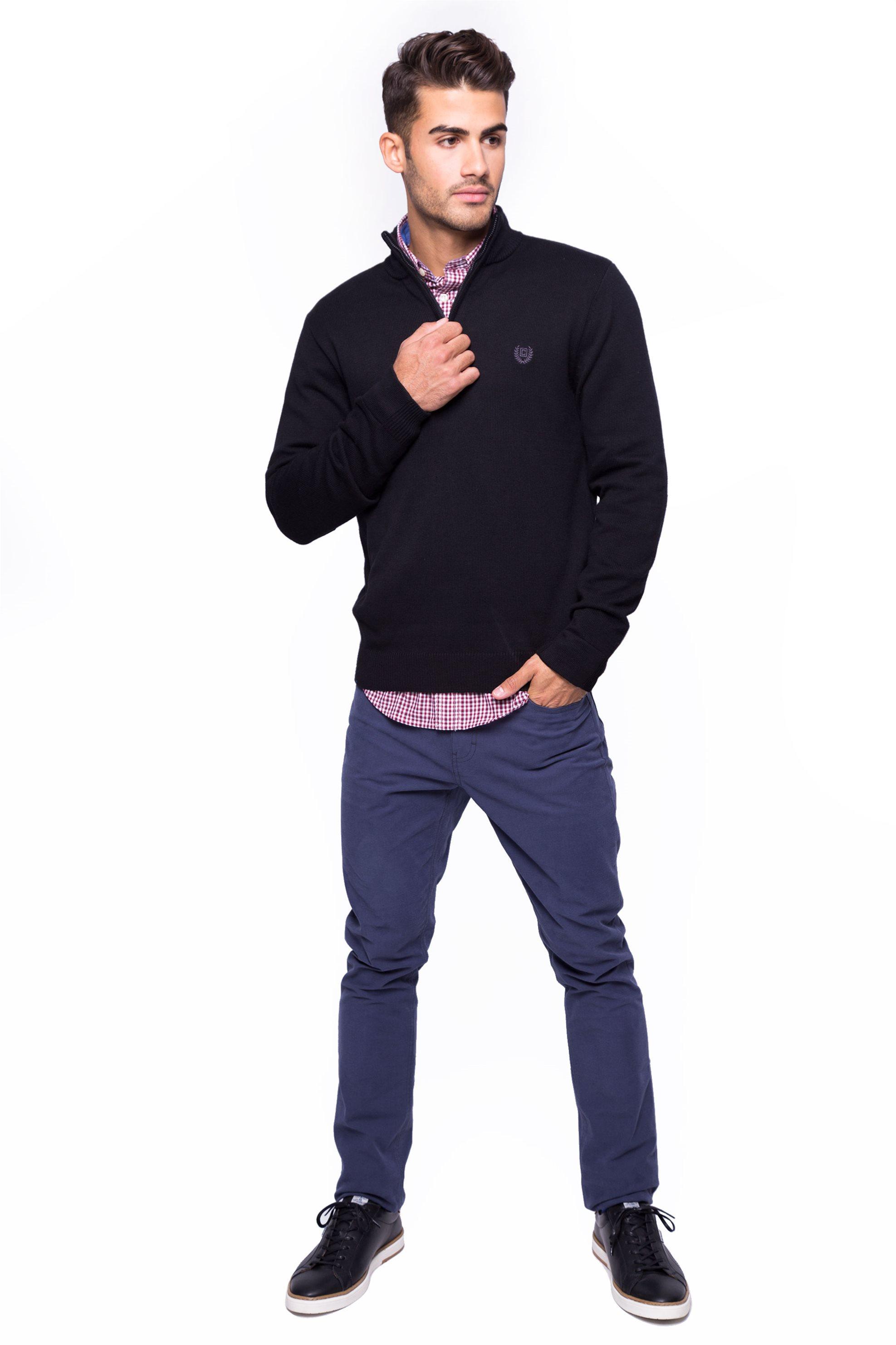 Ανδρικό παντελόνι Chaps - 750662285003 - Μπλε ανδρασ   ρουχα   παντελόνια   casual   πεντάτσεπα