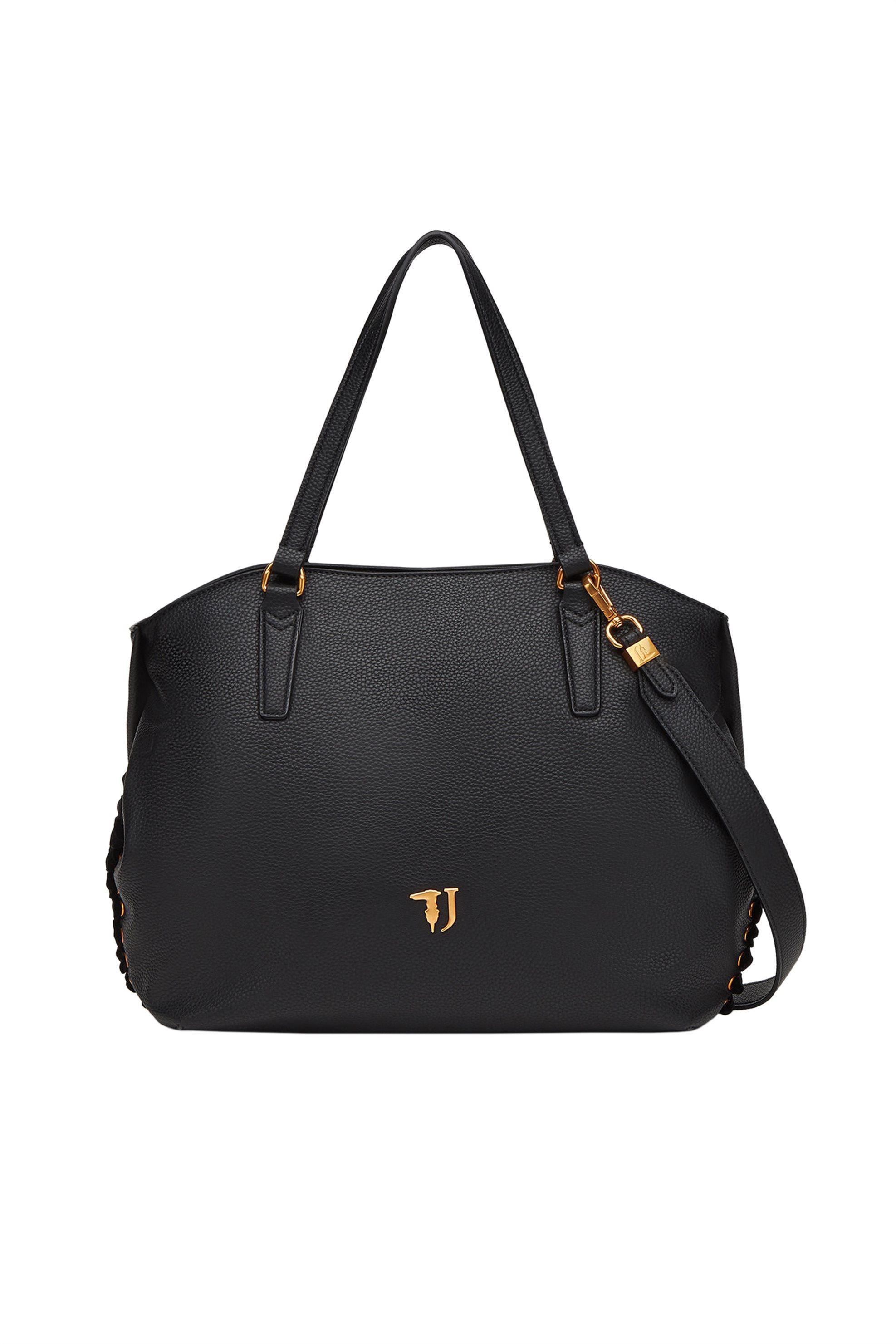 Trussardi Jeans γυναικεία τσάντα ώμου με βελούδινη κορδέλα Lavanda - 75B00447-9Y γυναικα   τσαντεσ   ώμου   shopper bags