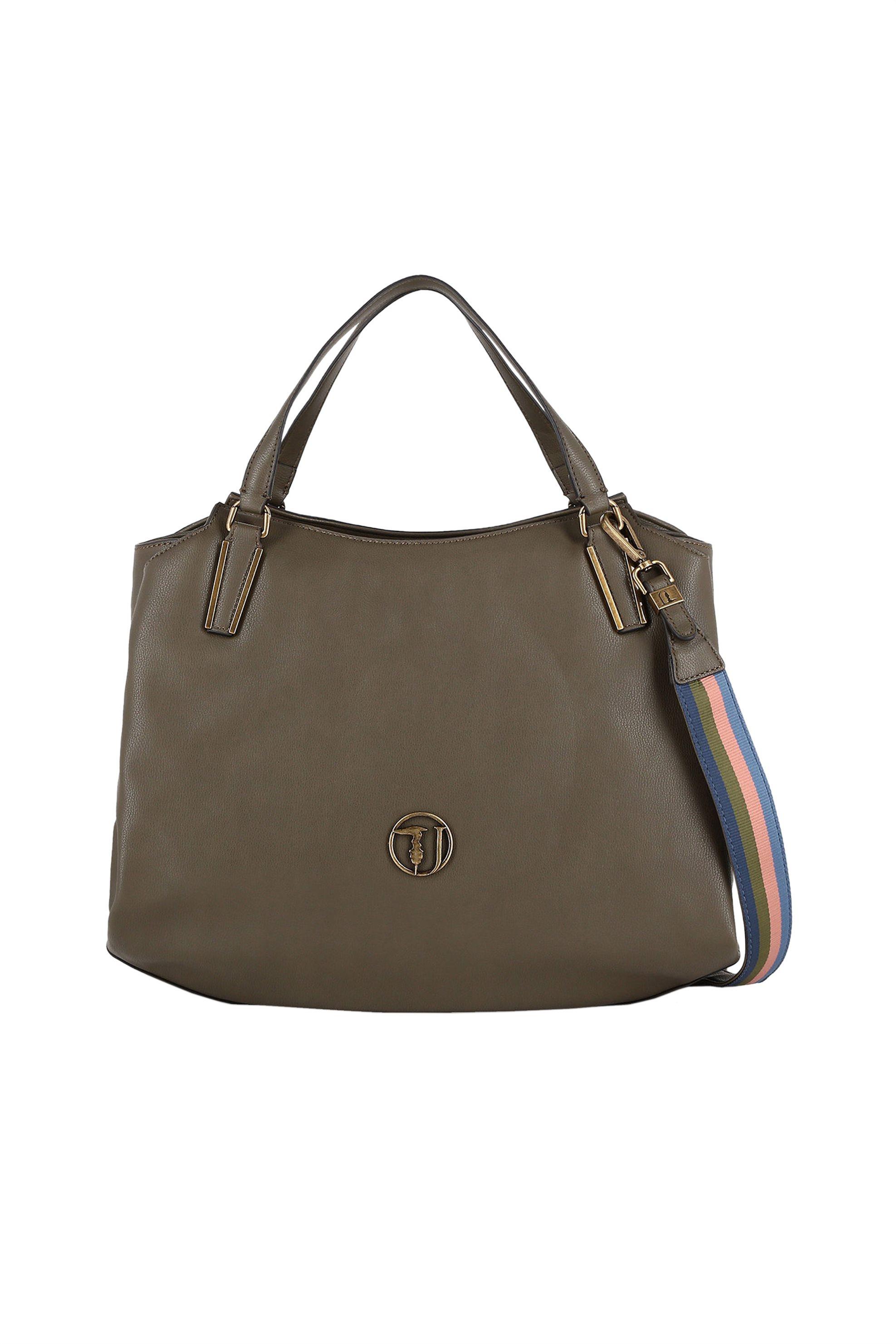 Trussardi Jeans γυναικεία τσάντα Rabarbaro Tote - 75B00551-9Y099999 - Χακί γυναικα   τσαντεσ   τσάντες χειρός