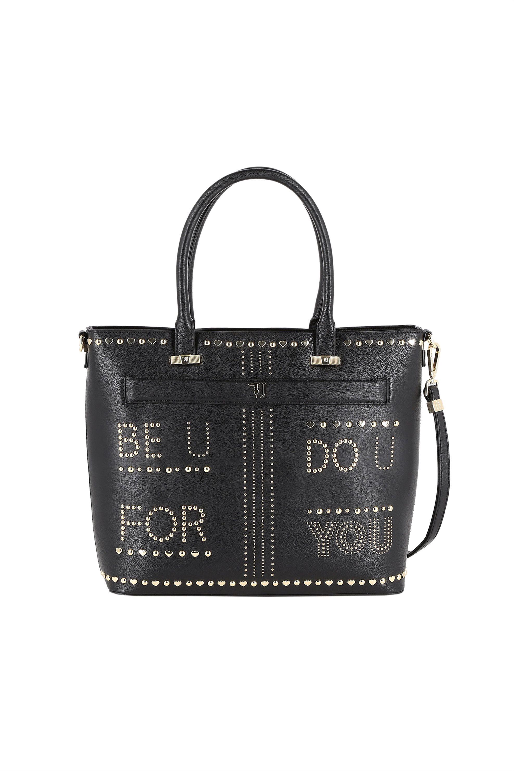 Trussardi Jeans γυναικεία τσάντα shopping με lettering από μεταλλικά στοιχεία -  γυναικα   τσαντεσ   ώμου   shopper bags