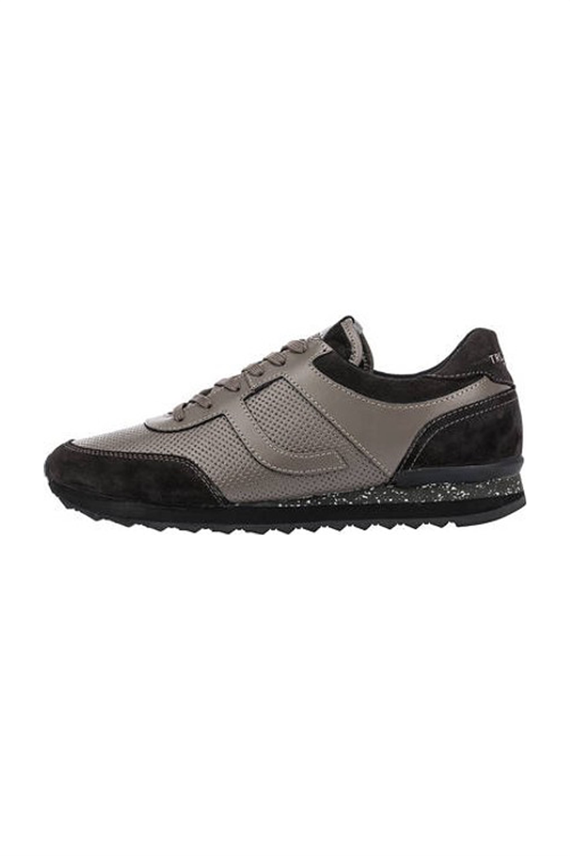 Trussardi ανδρικά sneakers με suede λεπτομέρειες και λογότυπο – 77A00104-9Y099999 – Γκρι