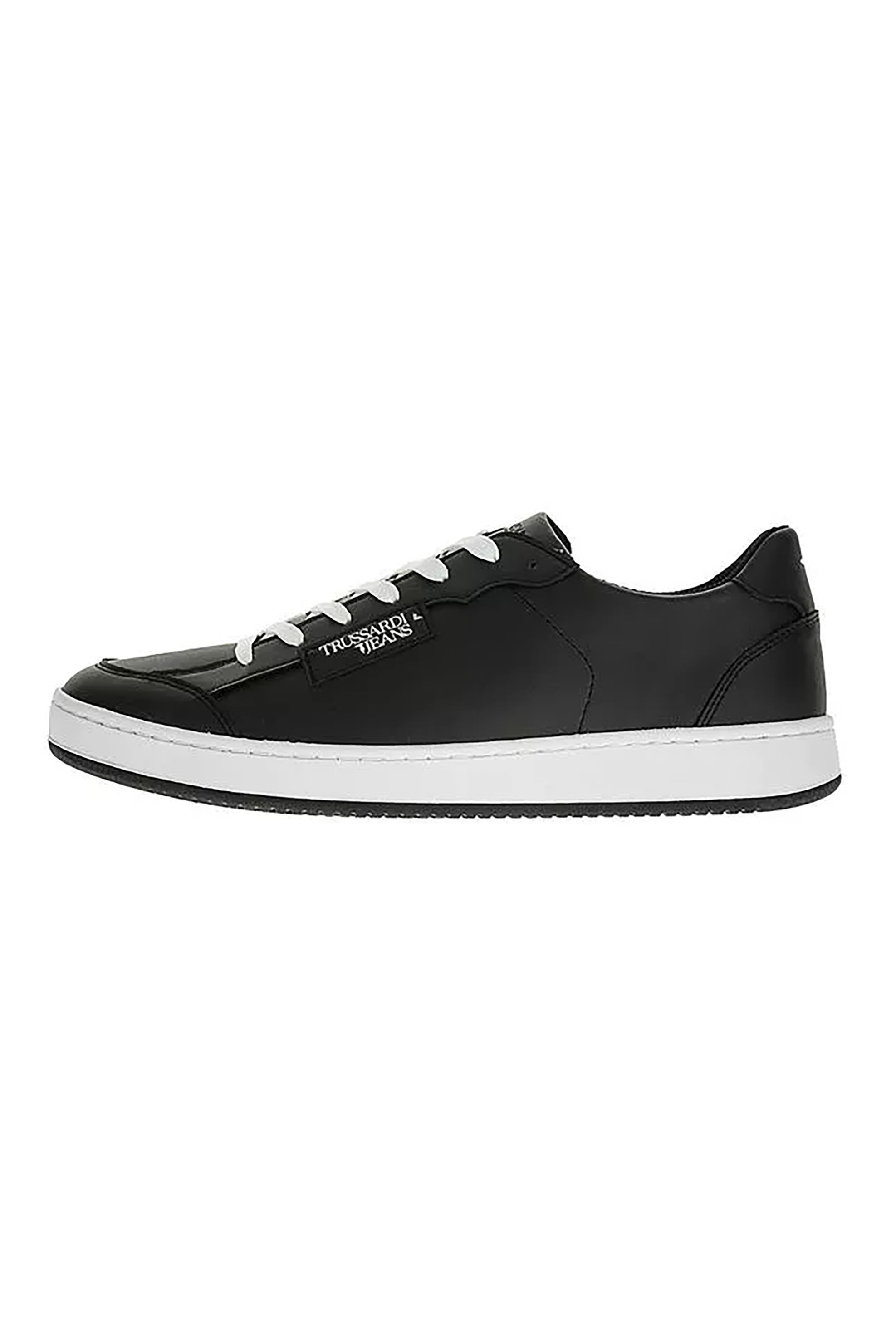 Trussardi ανδρικά sneakers με logo print – 77A00131-9Y099999 – Μαυρο