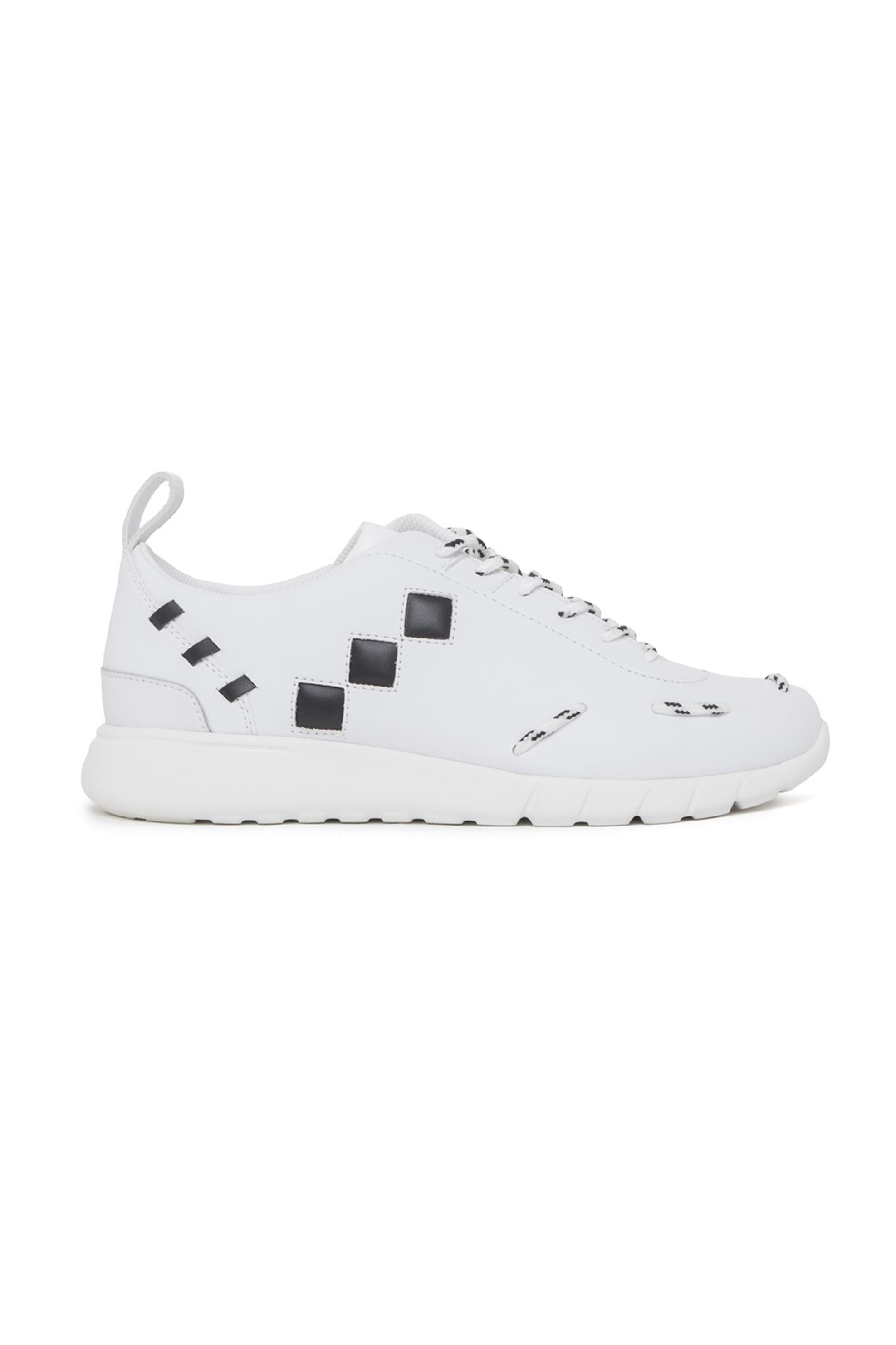 Trussardi ανδρικά sneakers με contrast λεπτομέρειες – 77A00138-9Y099999 – Λευκό