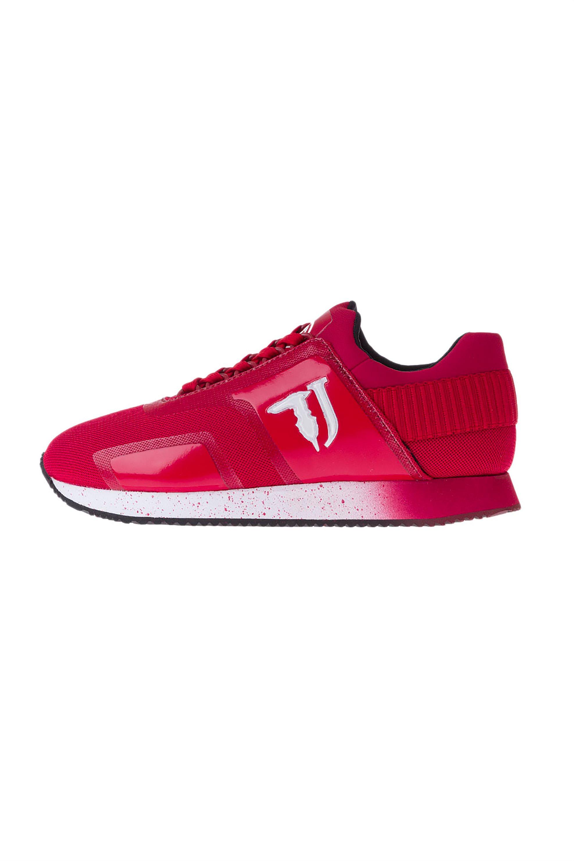 Trussardi Jeans ανδρικά sneakers με δερμάτινες και mesh λεπτομέρειες – 77A00154-9Y099999 – Κόκκινο