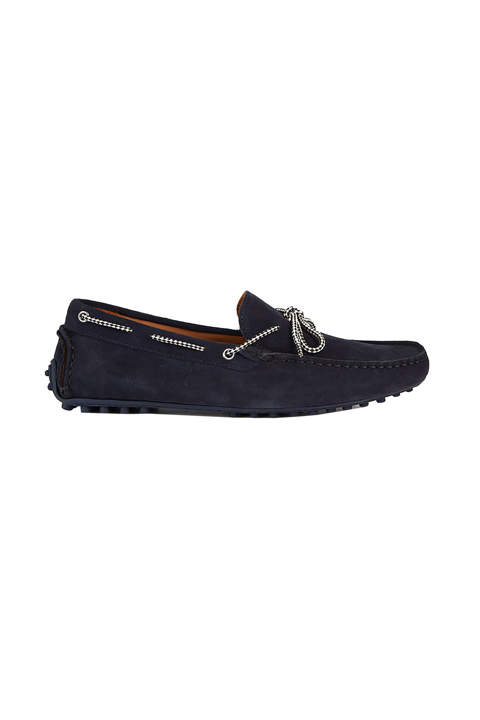 5a965bad61b Notos Trussardi Jeans ανδρικά loafers suede – 77A00169-9Y099999 – Μπλε  Σκούρο