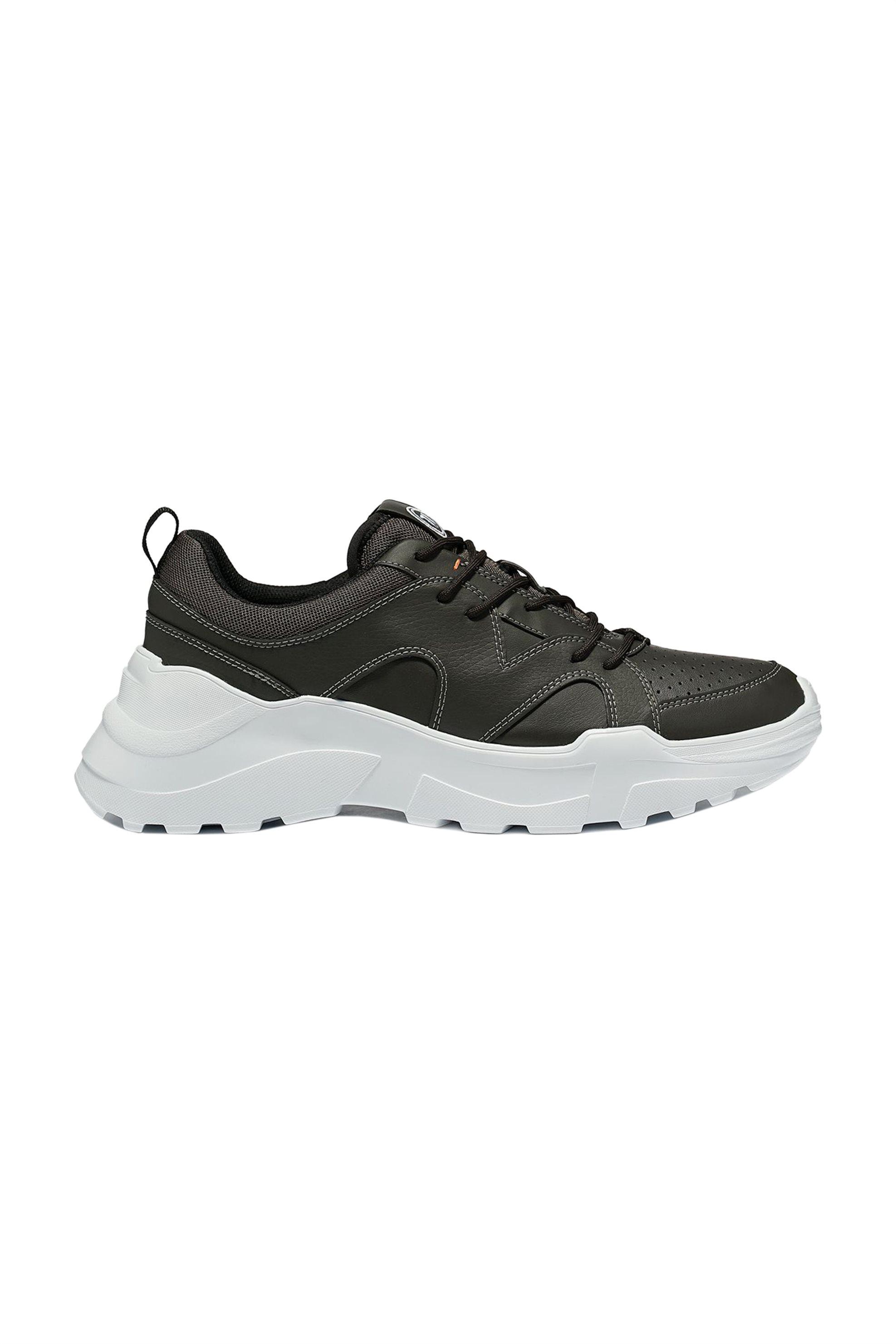 Trussardi ανδρικά sneakers με διαφορετικές υφές – 77A00196-9Y099999 – Χακί