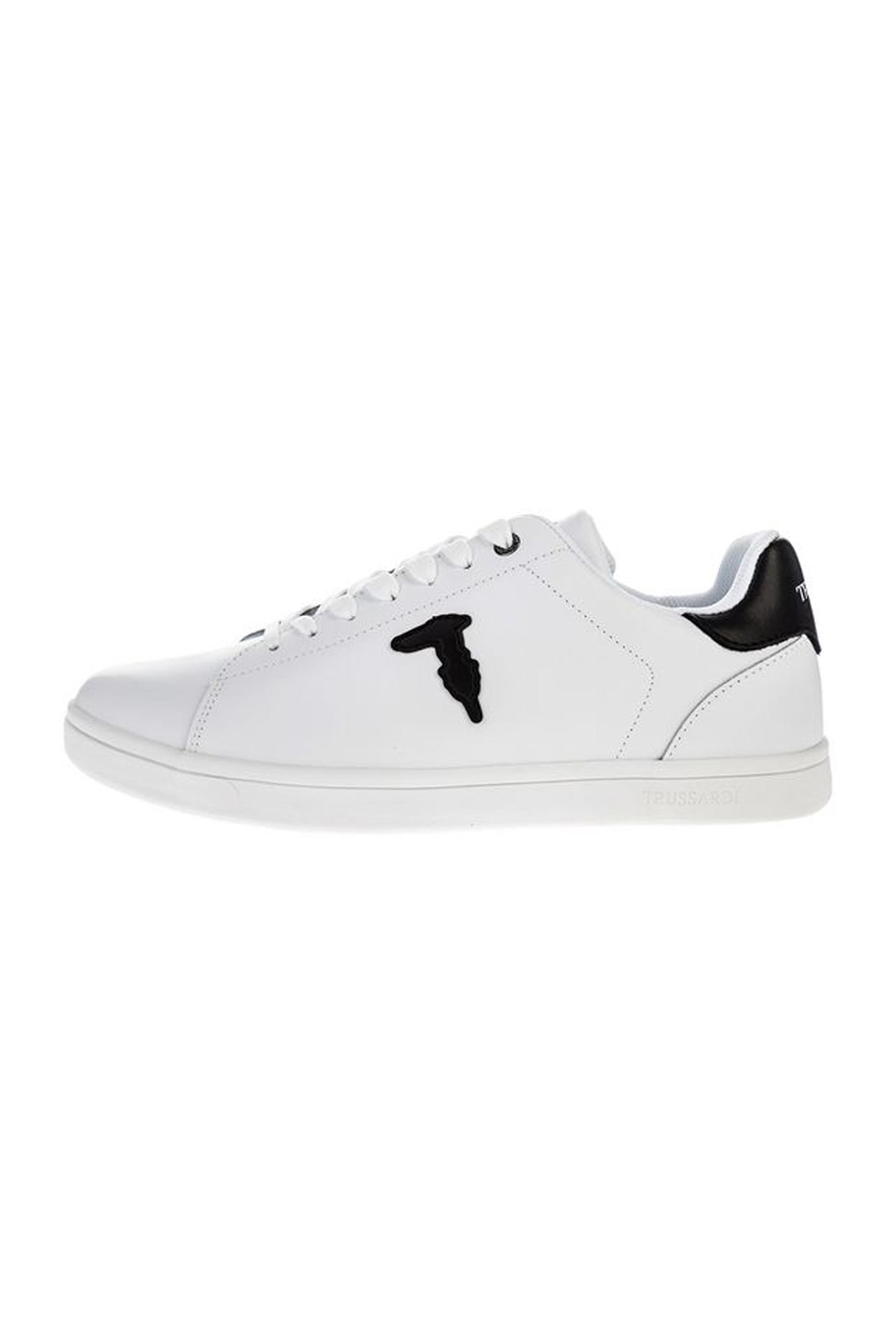 Trussardi ανδρικά sneakers με κορδόνια και logo patch – 77A00241-9Y099999 – Μαύρο Noir