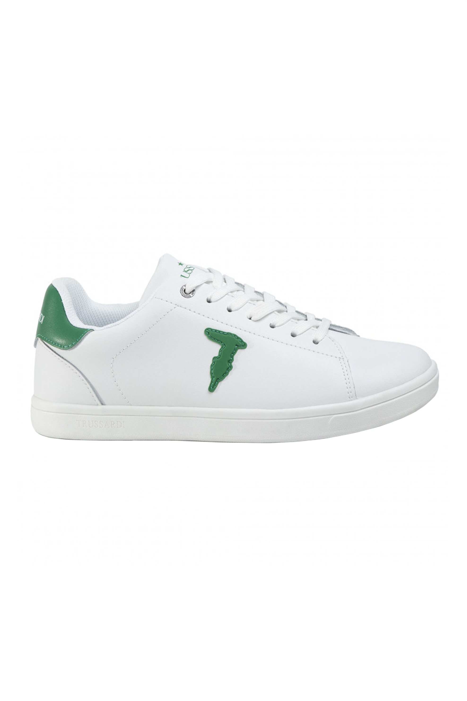 Trussardi ανδρικά sneakers με κορδόνια και logo patch – 77A00241-9Y099999 – Πράσινο