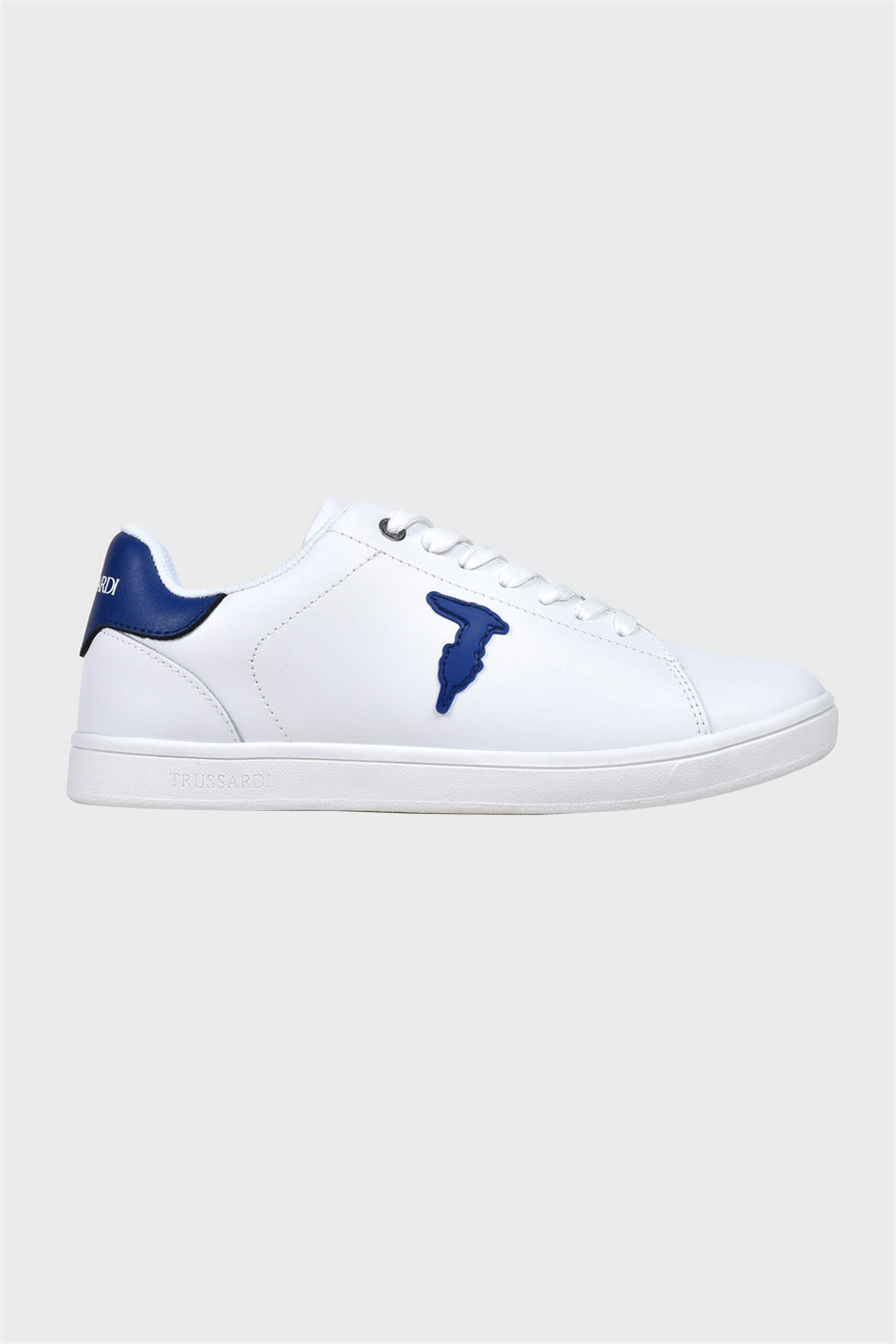 Trussardi ανδρικά sneakers με κορδόνια και logo patch – 77A00241-9Y099999 – Μπλε Σκούρο