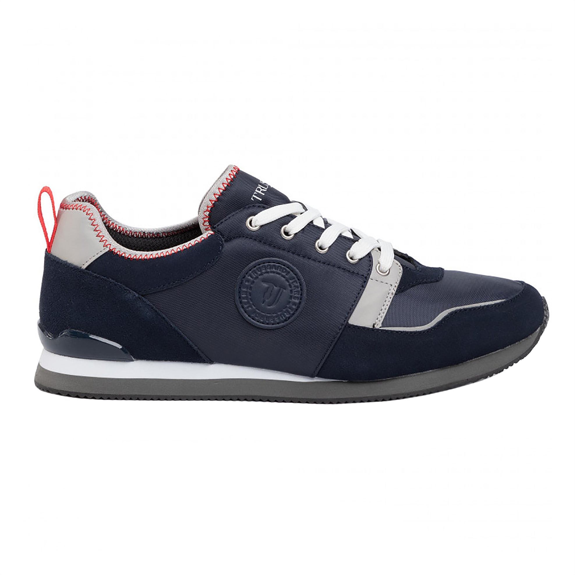 Trussardi Jeans ανδρικά sneakers με suede λεπτομέρειες – 77A00245-9Y099999 – Μπλε Σκούρο