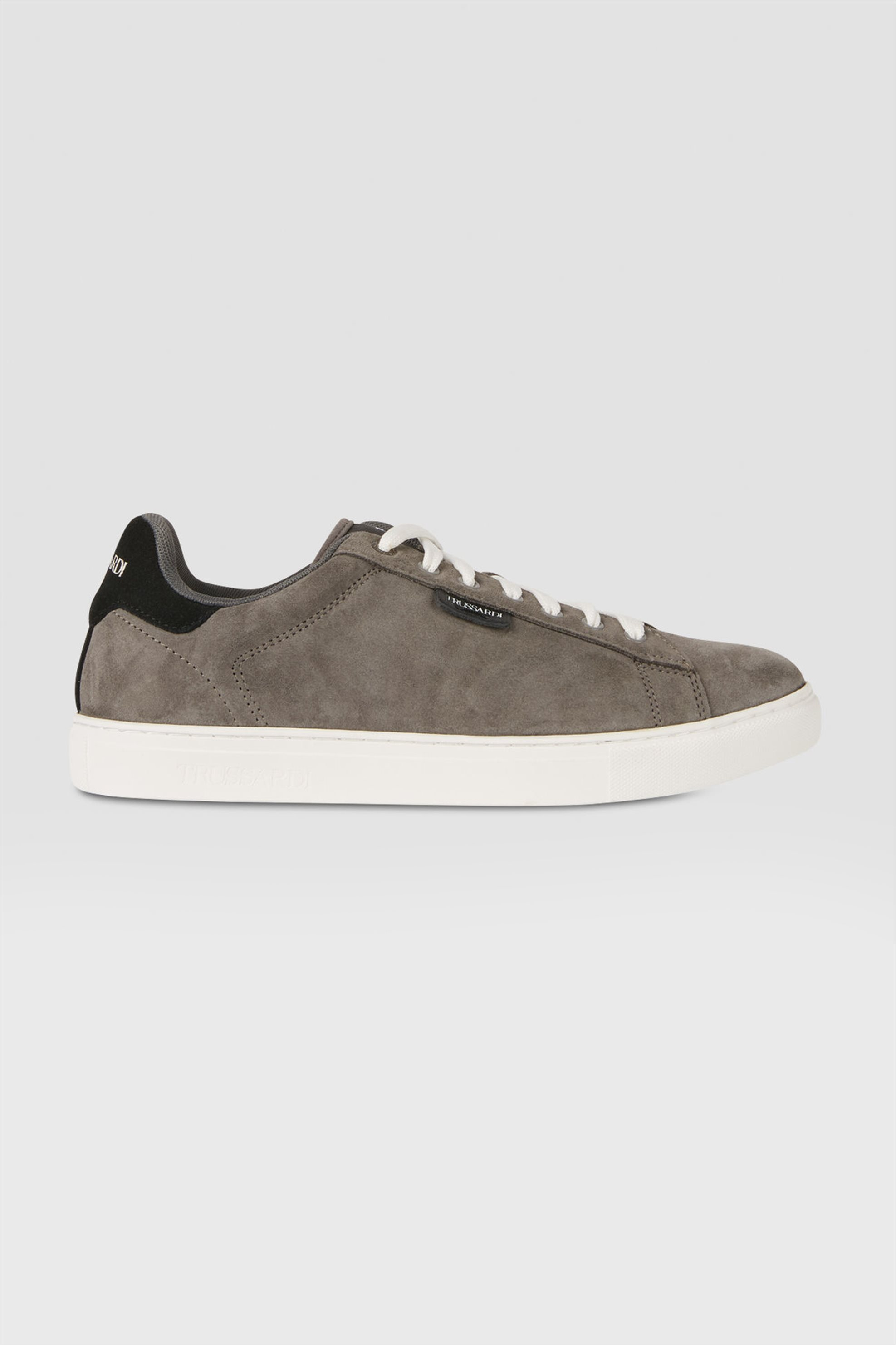 Trussardi ανδρικά suede sneakers με κορδόνια – 77A00270-9Y099997 – Γκρι