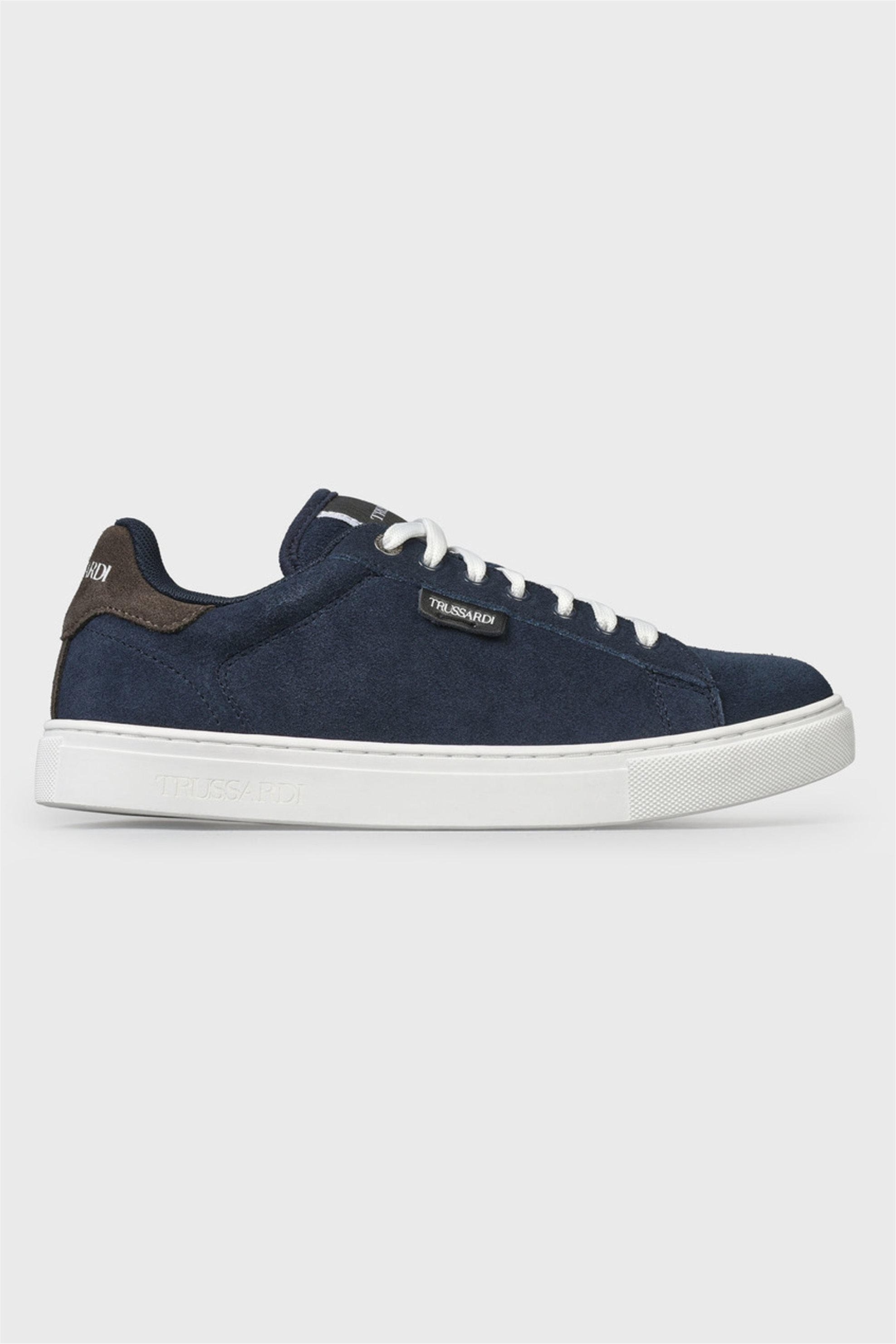 Trussardi ανδρικά suede sneakers με κορδόνια – 77A00270-9Y099997 – Μπλε Σκούρο