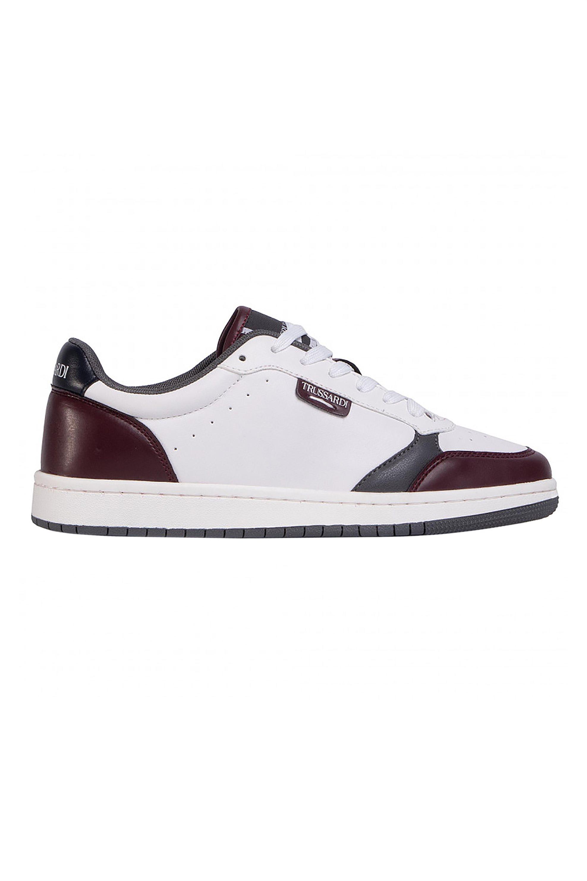 Trussardi Jeans ανδρικά sneakers με διάτρητες λεπτομέρειες - 77A00271-9Y099998 - Μπορντό