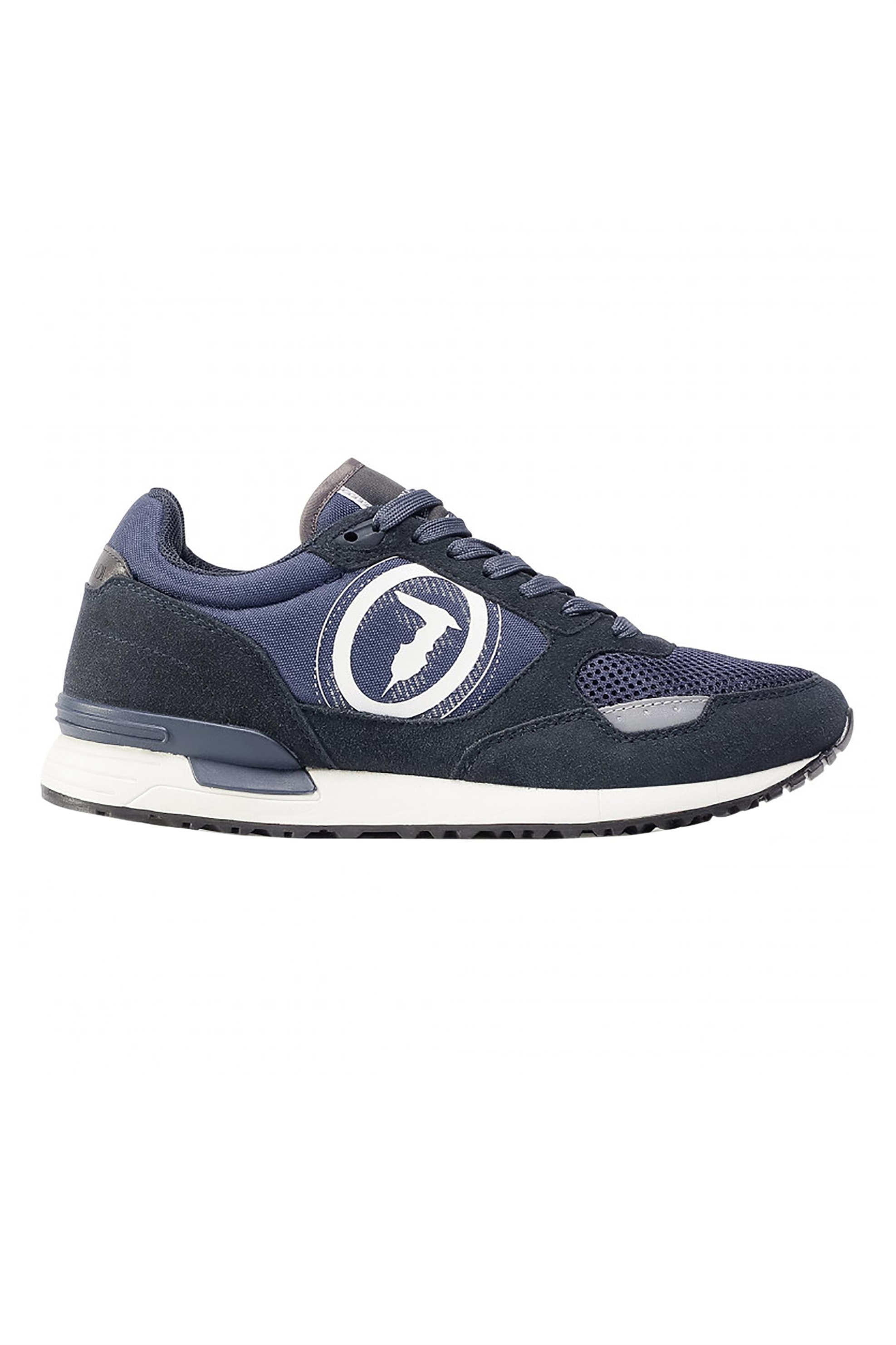 Trussardi Jeans ανδρικά sneakers με suede λεπτομέρειες – 77A00281-9Y099998 – Μπλε Σκούρο