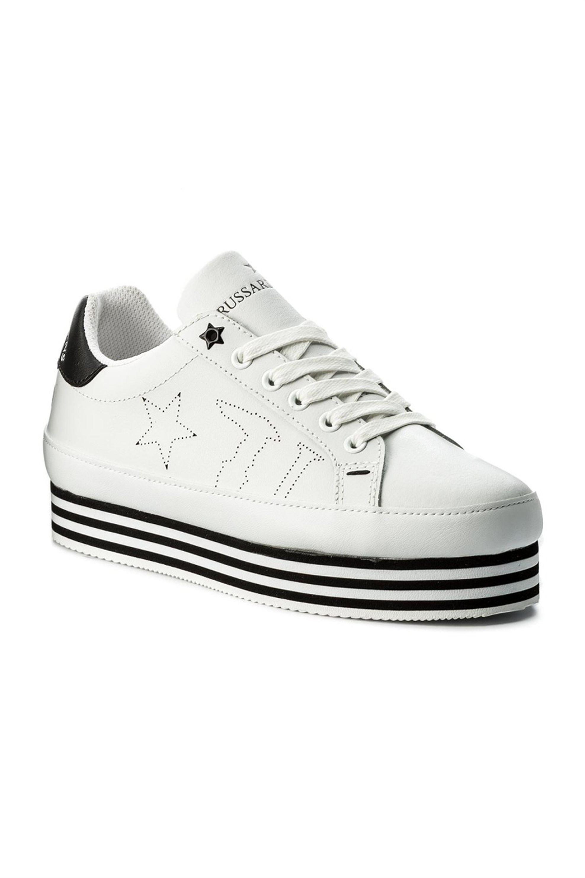 Trussardi γυναικεία chunky sneakers με υπερυψωμένη σόλα – 79A00129-9Y099999 – Λευκό