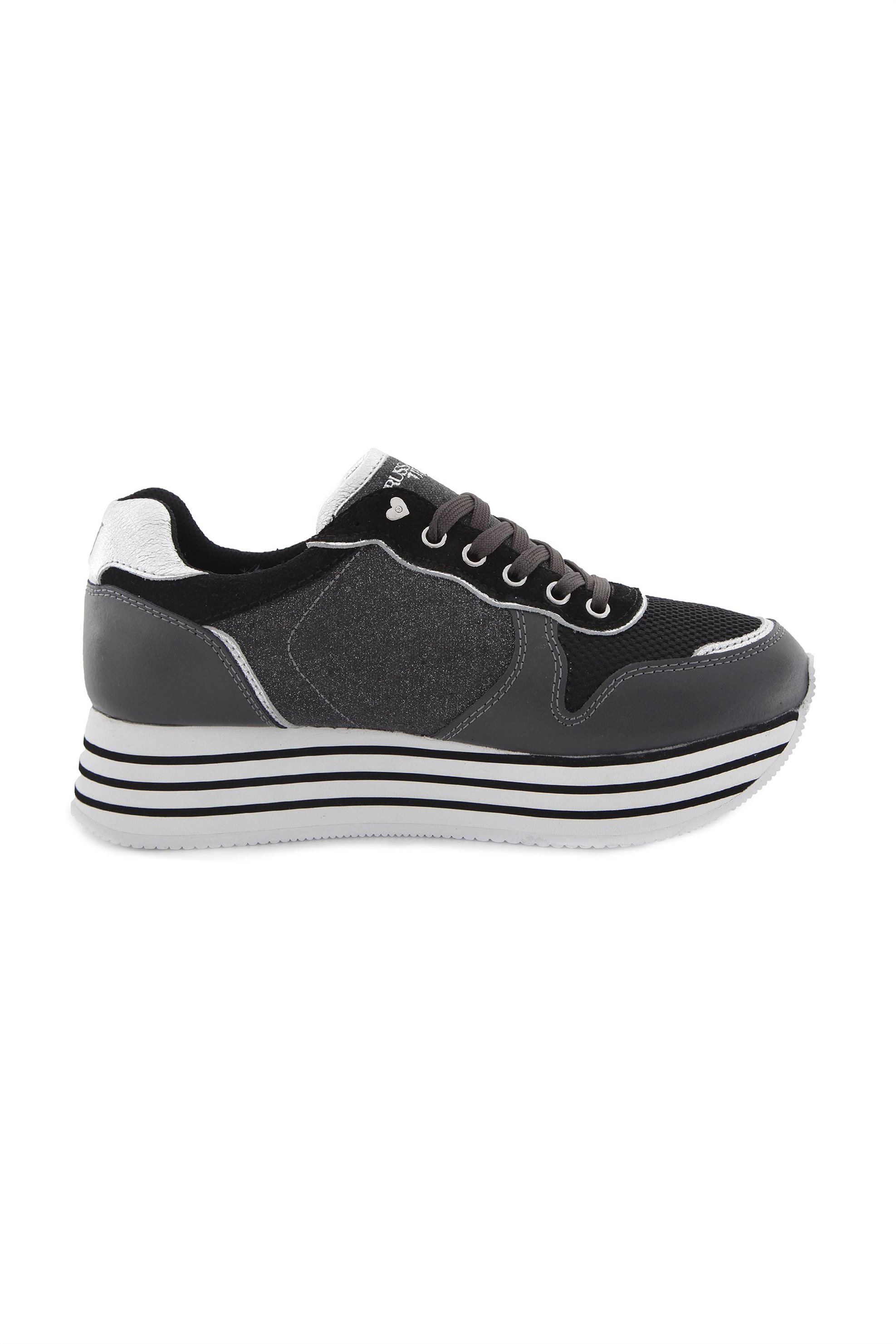 Trussardi γυναικεία sneakers δίσολα – 79A00246-9Y099999 – Μαυρο