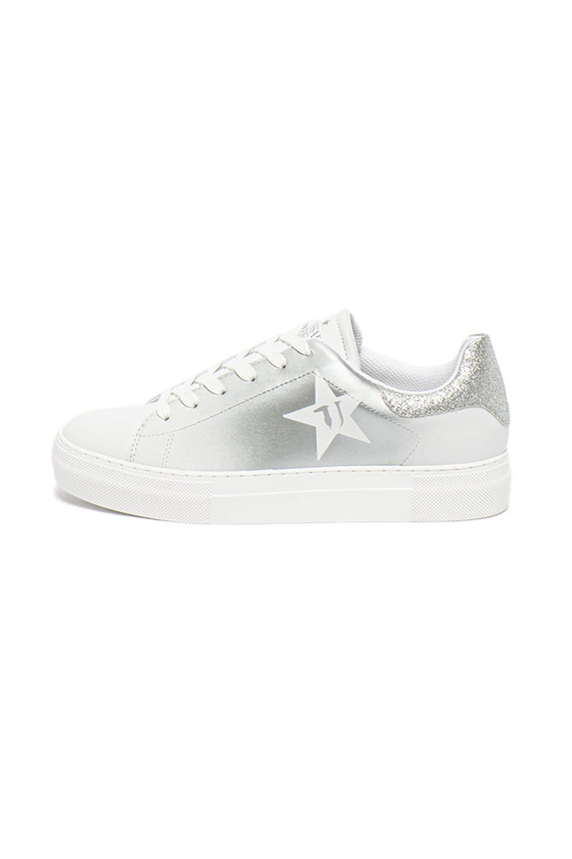 Trussardi γυναικεία sneakers με glitter – 79A00425-9Y099999 – Λευκό