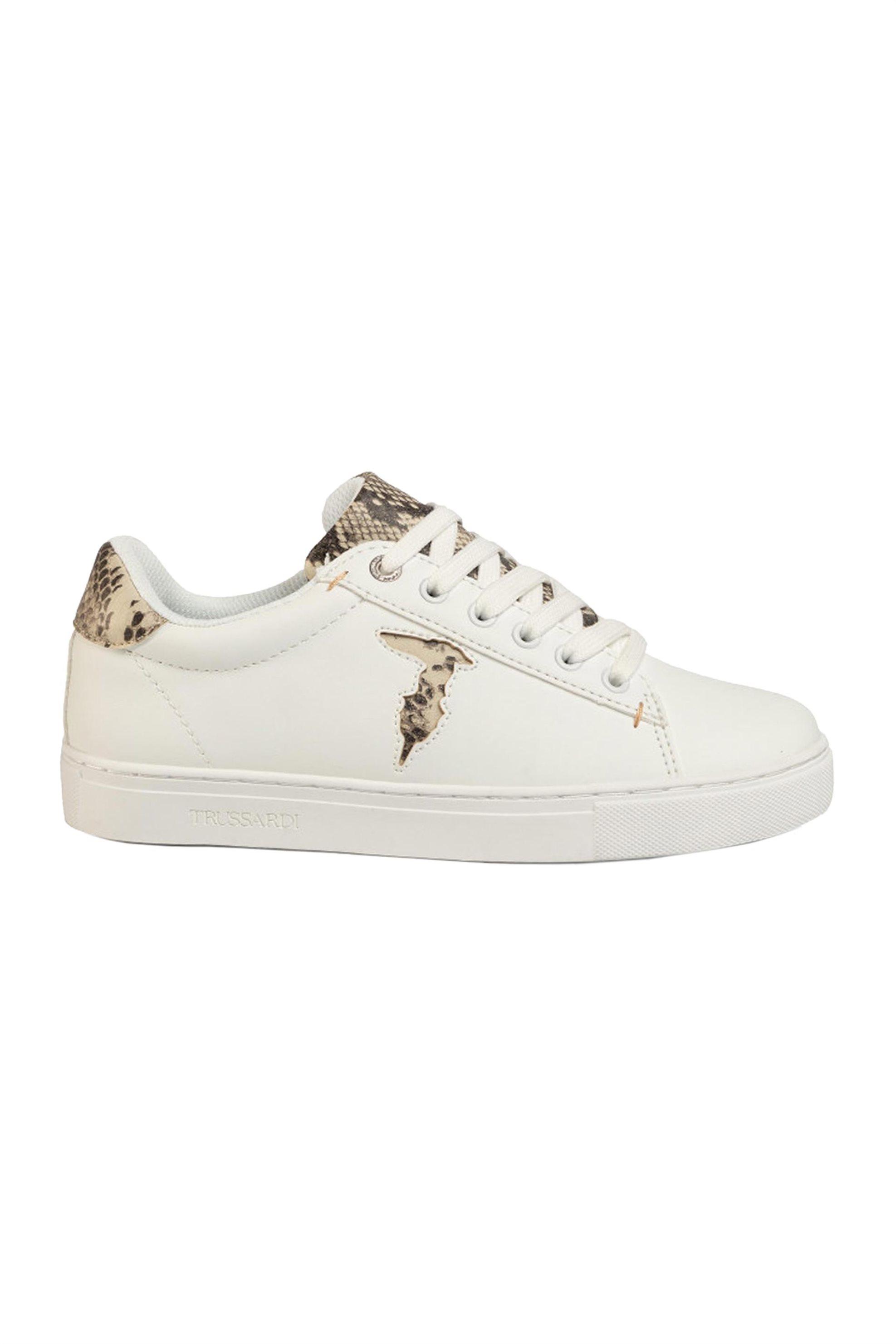 Trussardi γυναικεία sneakers με snake print – 79A00527-9Y099999 – Καφέ