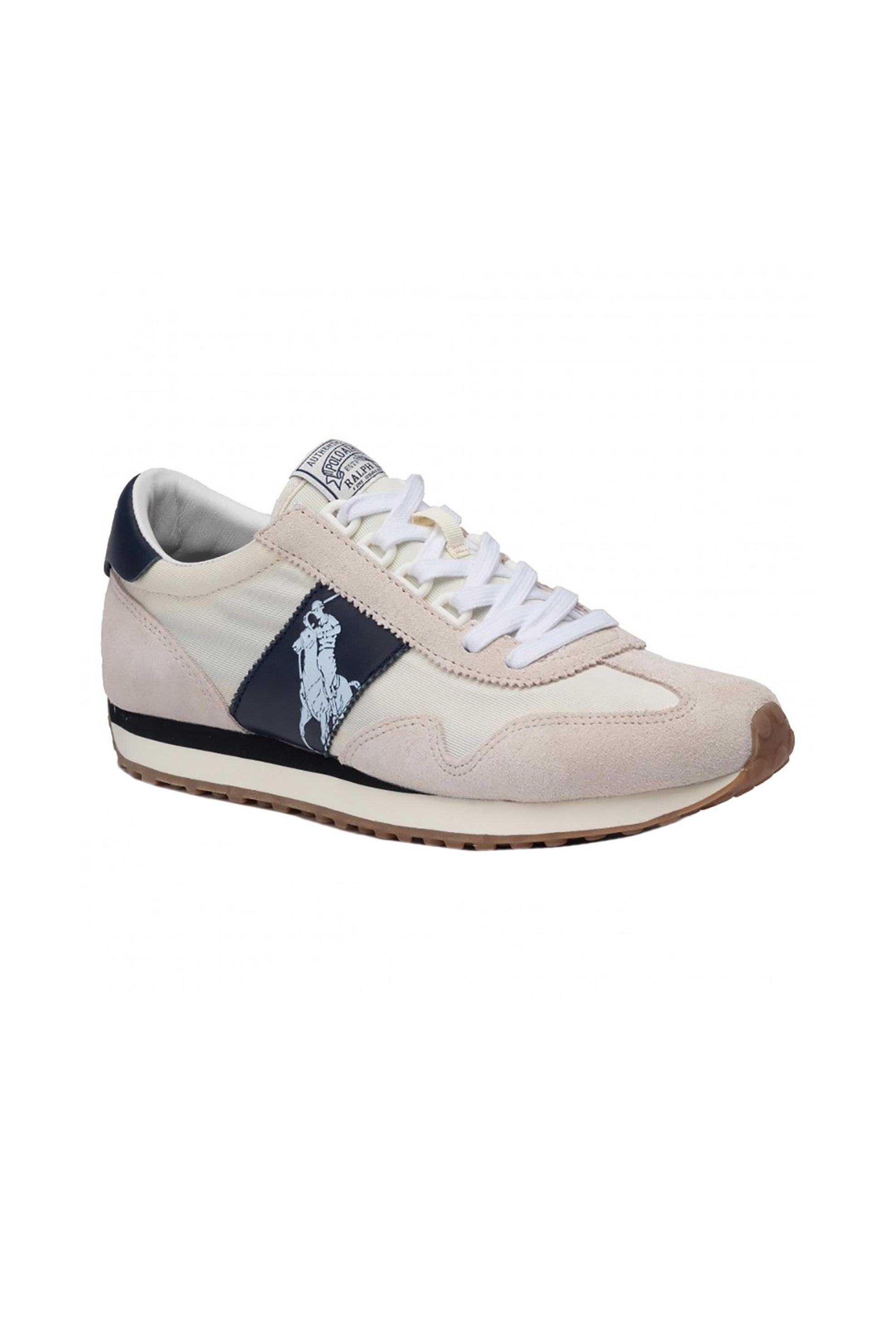 Polo Ralph Lauren ανδρικά suede sneakers με κορδόνια και suede υφή – 809755192003 – Μπεζ