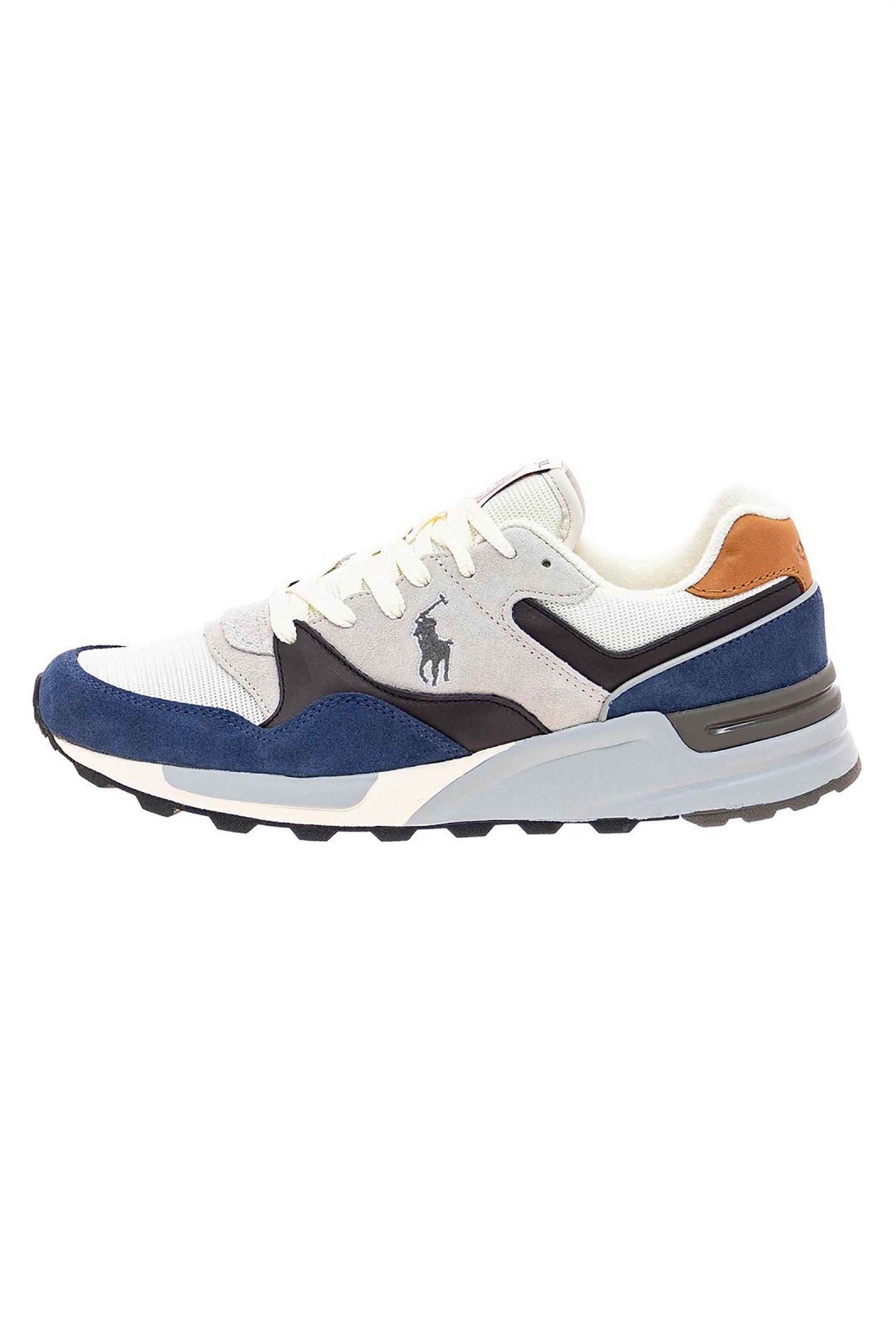 Polo Ralph Lauren ανδρικά suede sneakers με κορδόνια – 809786694001 – Μπλε