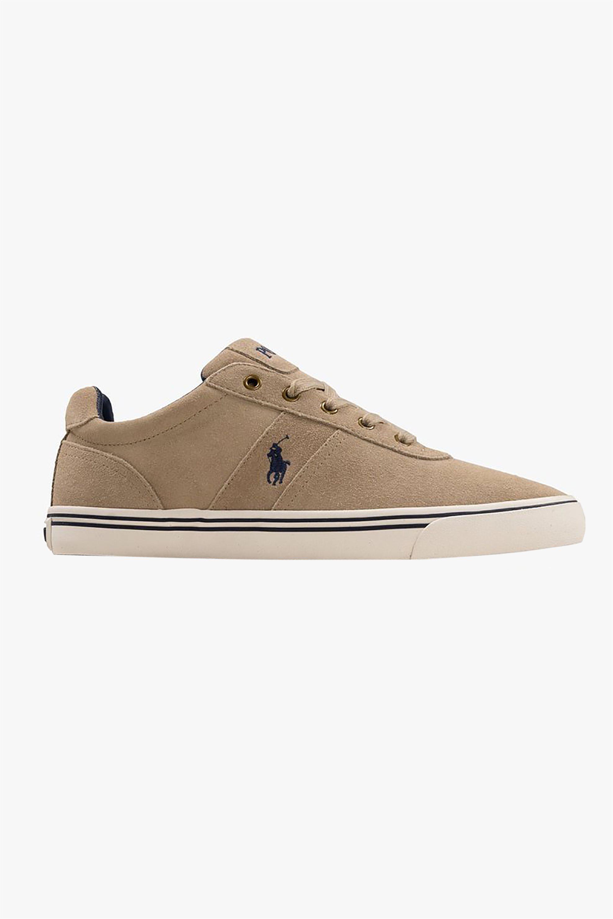 "Polo Ralph Lauren ανδρικά suede sneakers με κορδόνια ""Hanford"" – 816641859005 – Μπεζ"