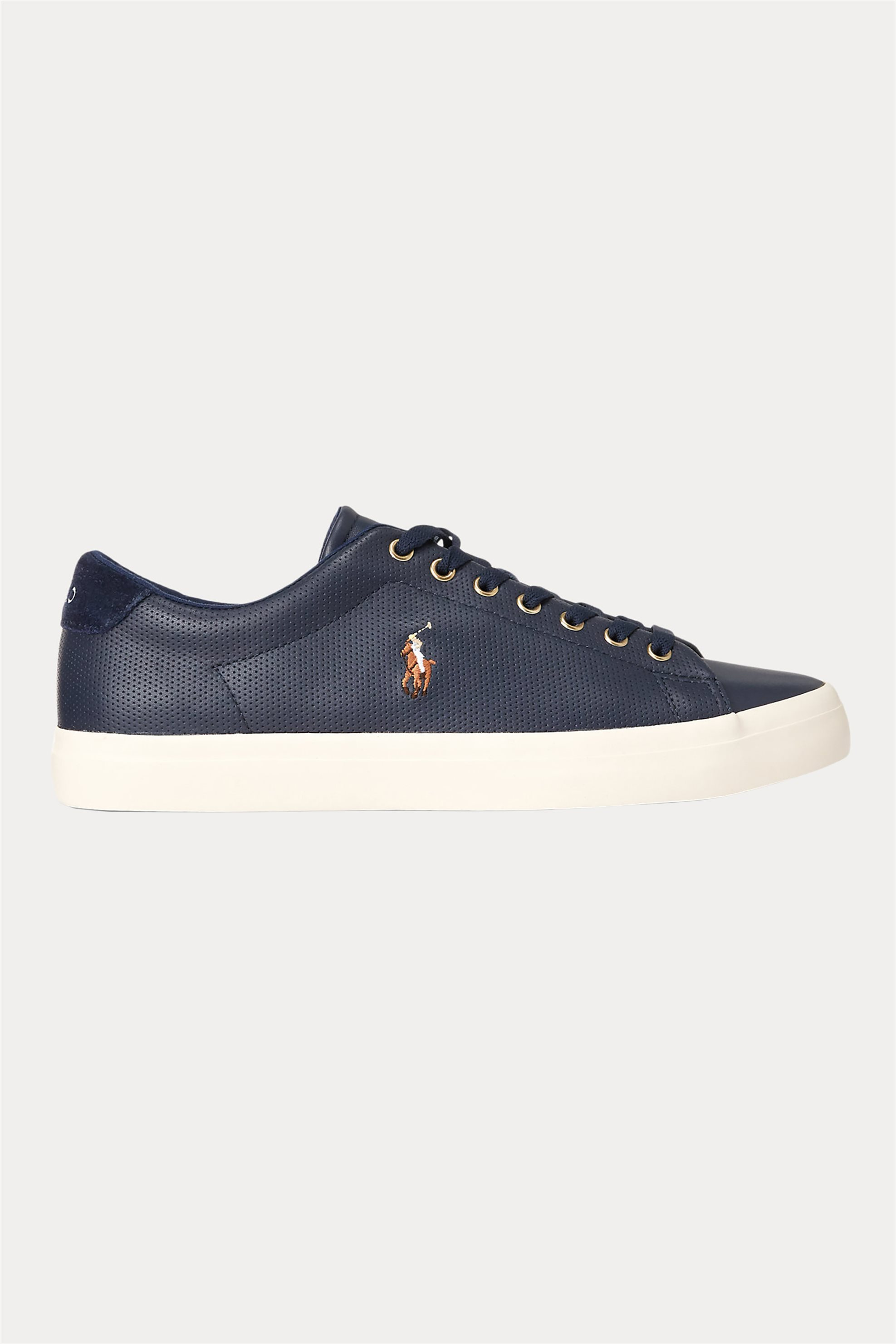 "Polo Ralph Lauren ανδρικά δερμάτινα sneakers ""Longwood"" – 816785024003 – Μπλε Σκούρο"